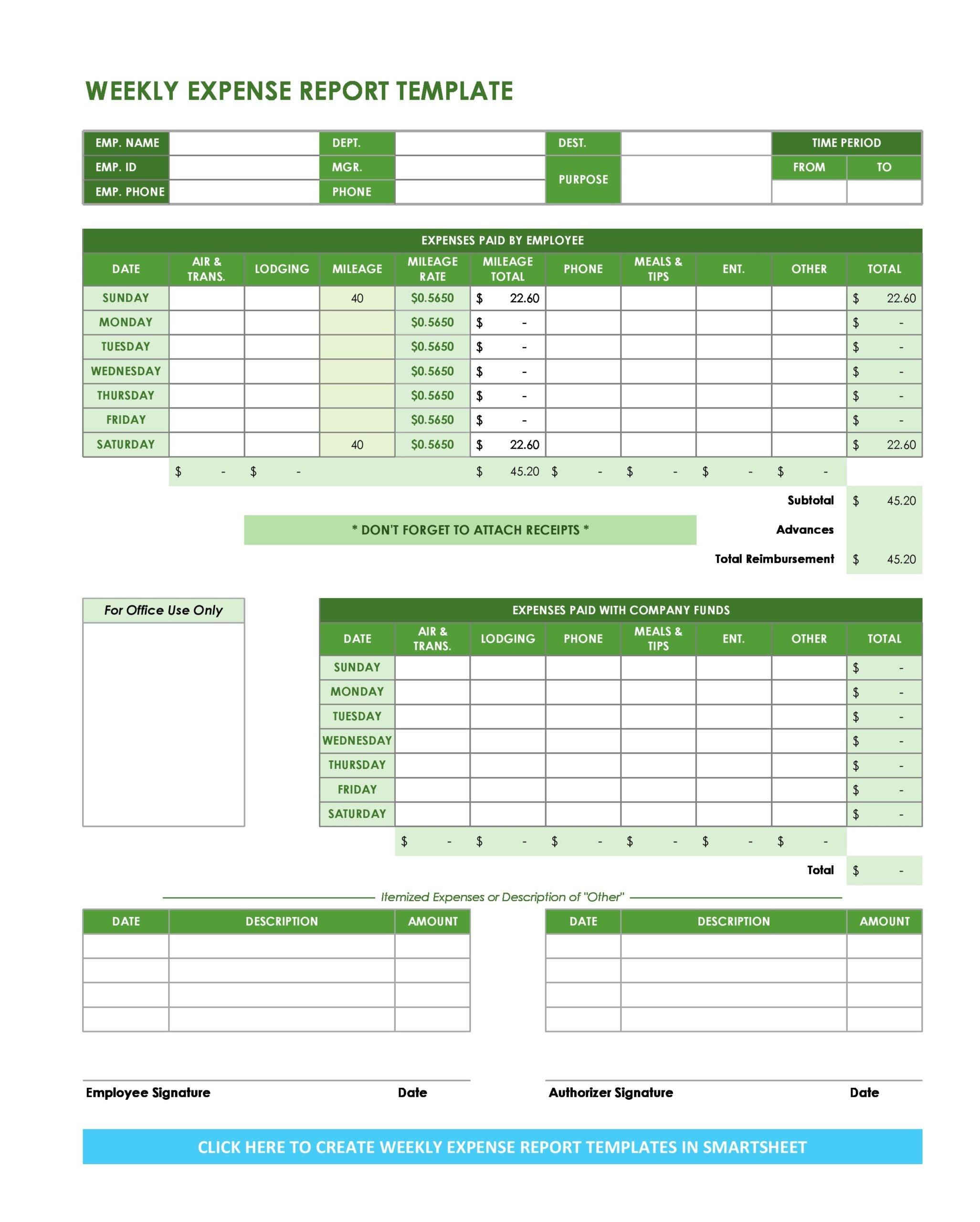 business expense spreadsheet 07