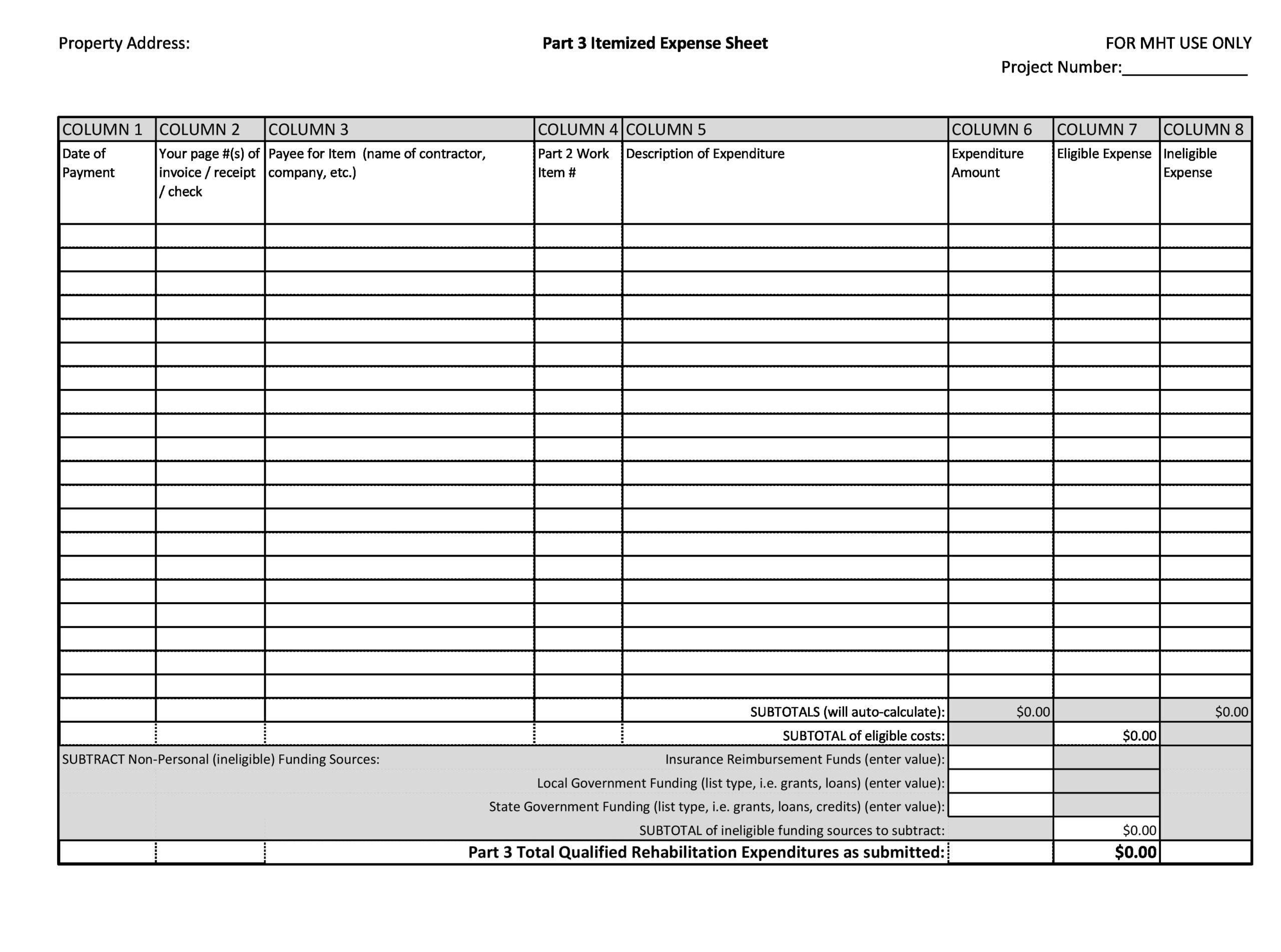 business expense spreadsheet 08