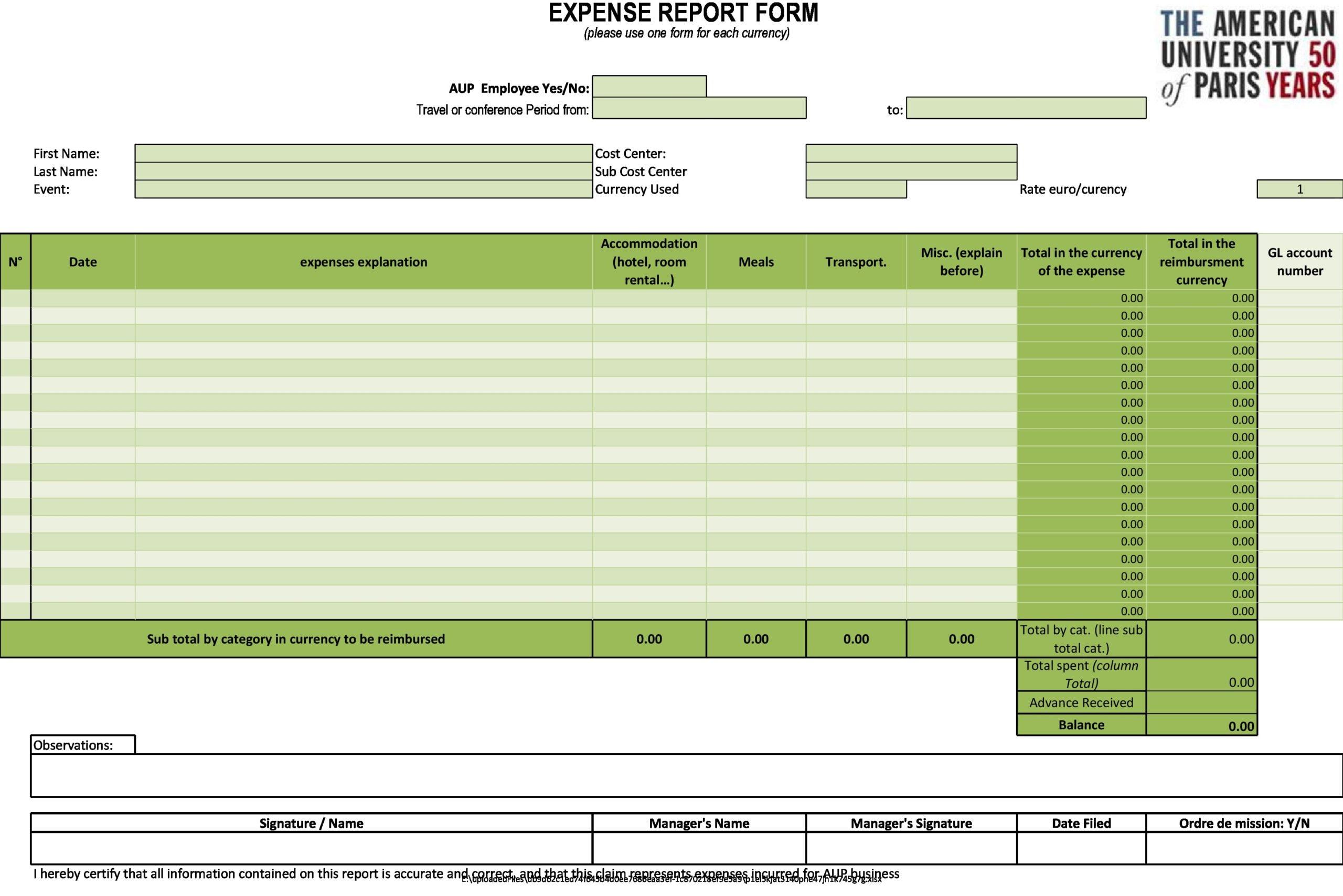 business expense spreadsheet 13