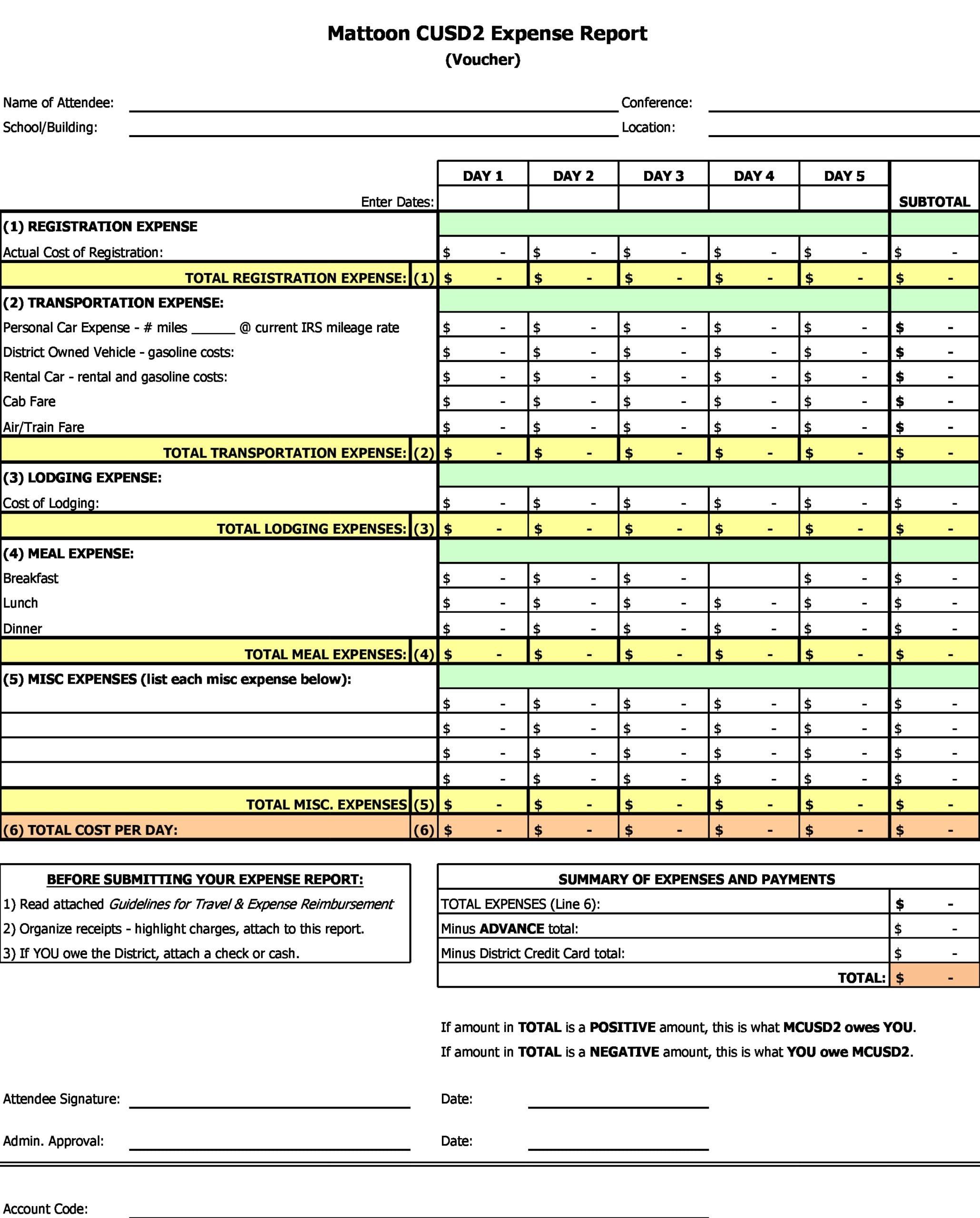 business expense spreadsheet 15