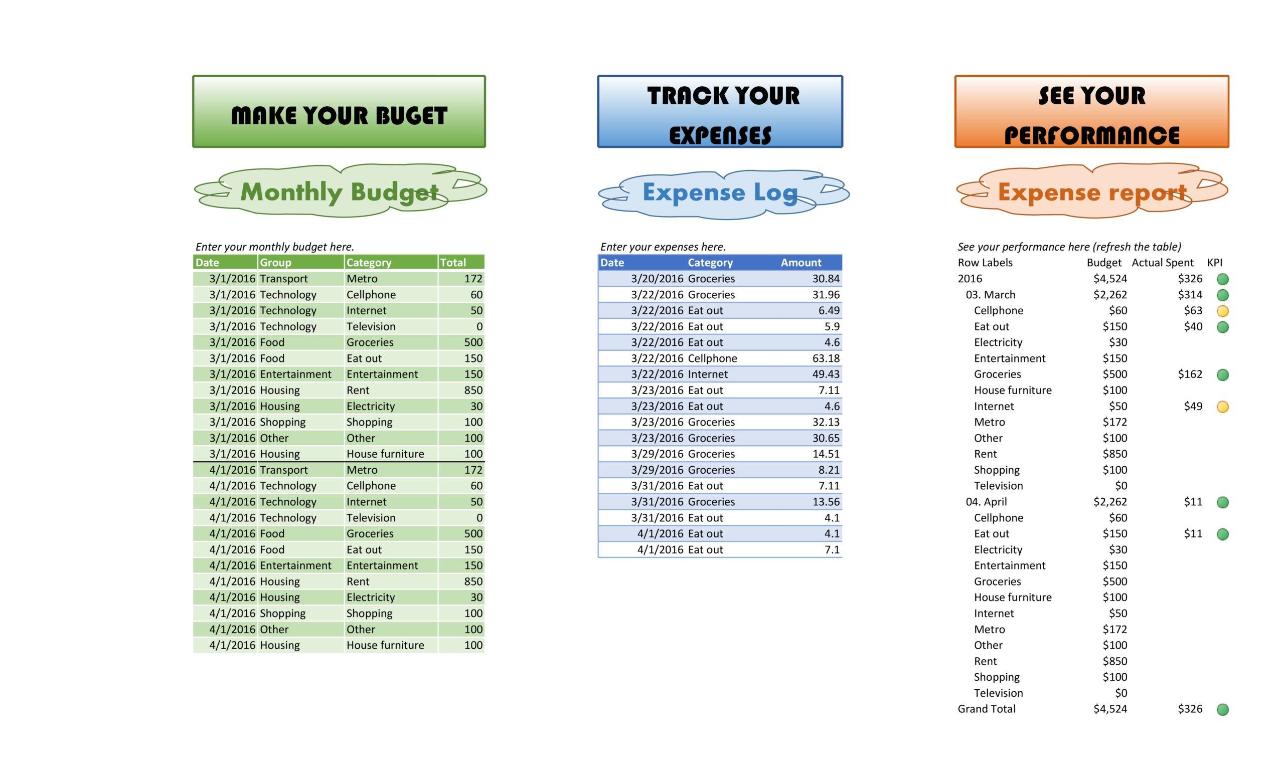 business expense spreadsheet 17