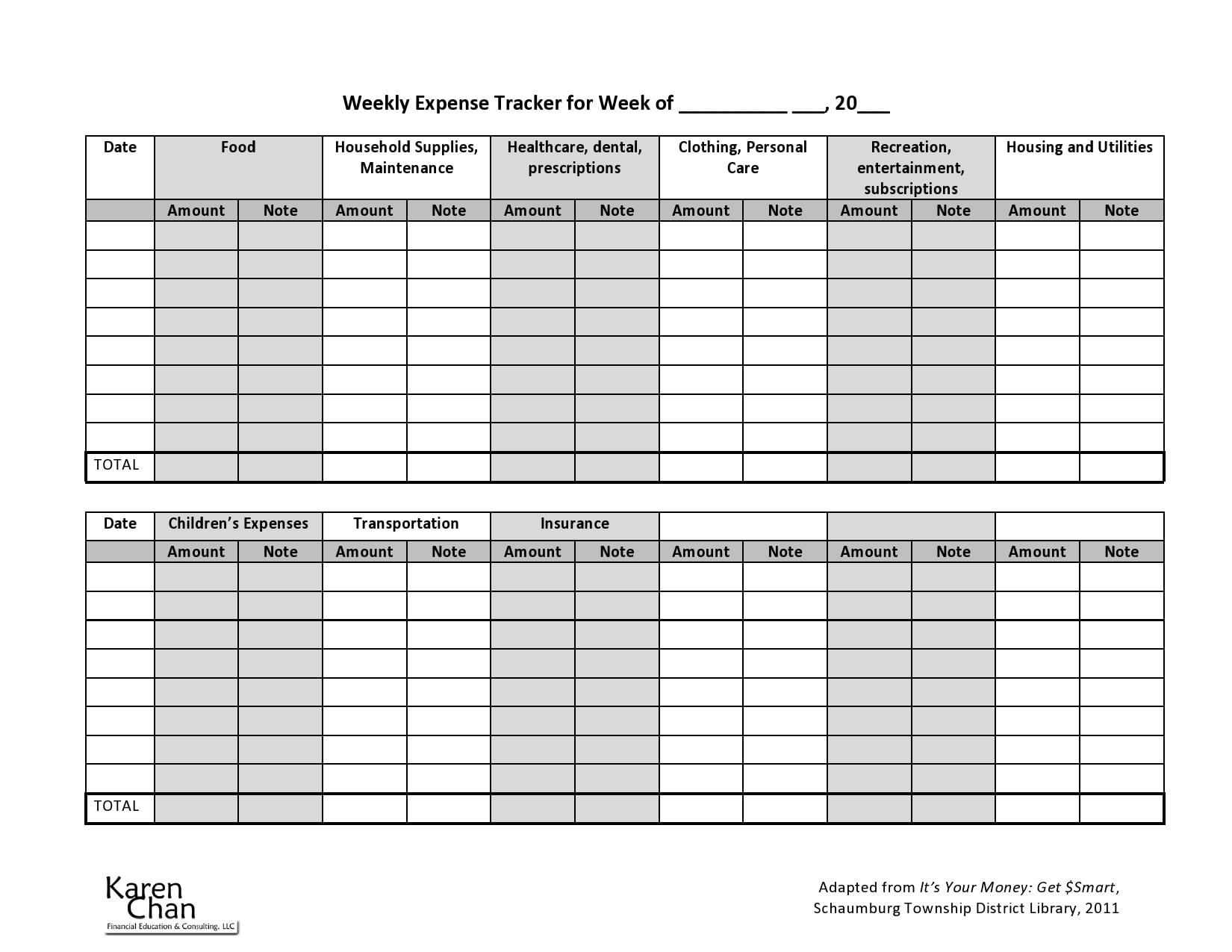 business expense spreadsheet 18