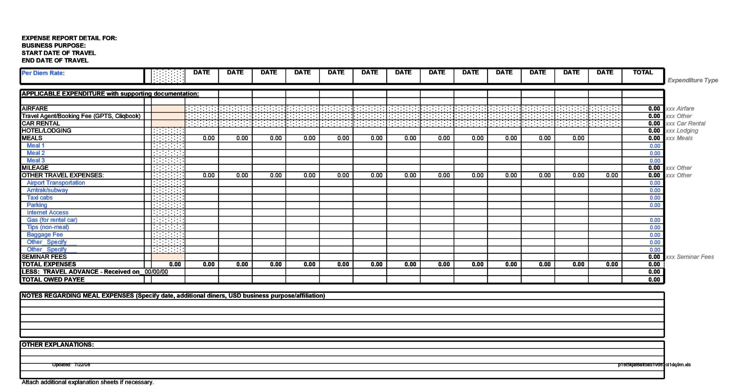 business expense spreadsheet 19