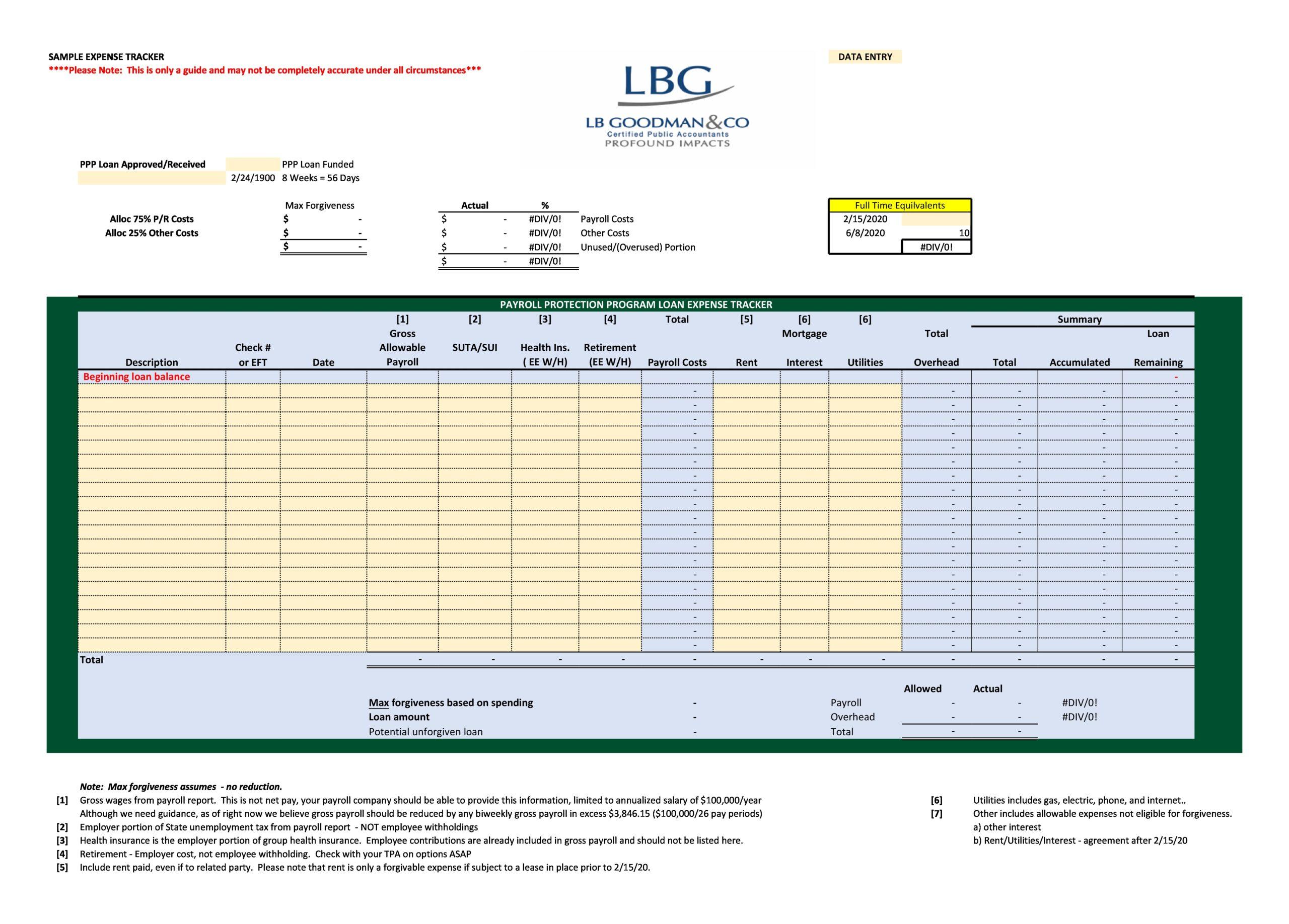 business expense spreadsheet 20