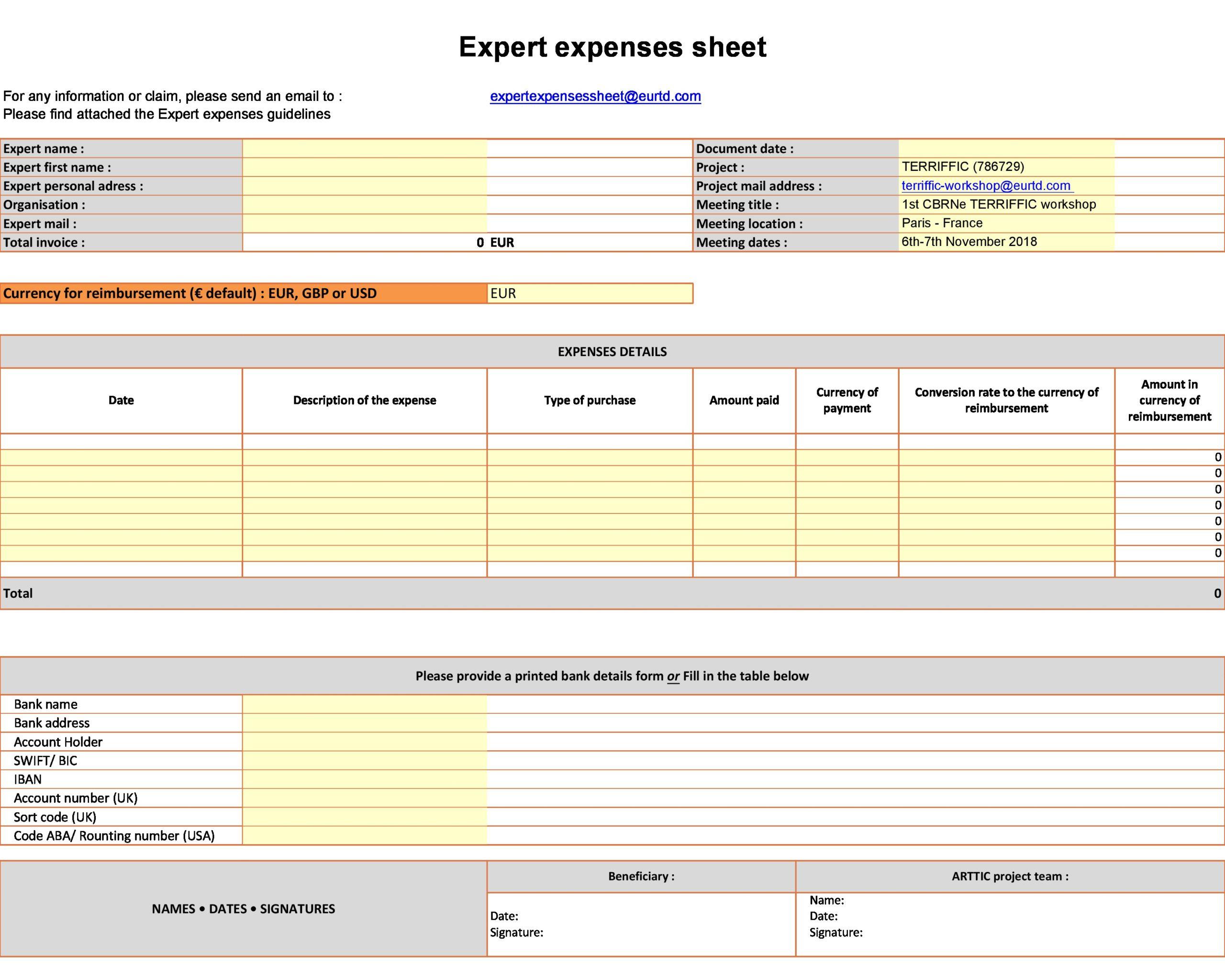 business expense spreadsheet 26