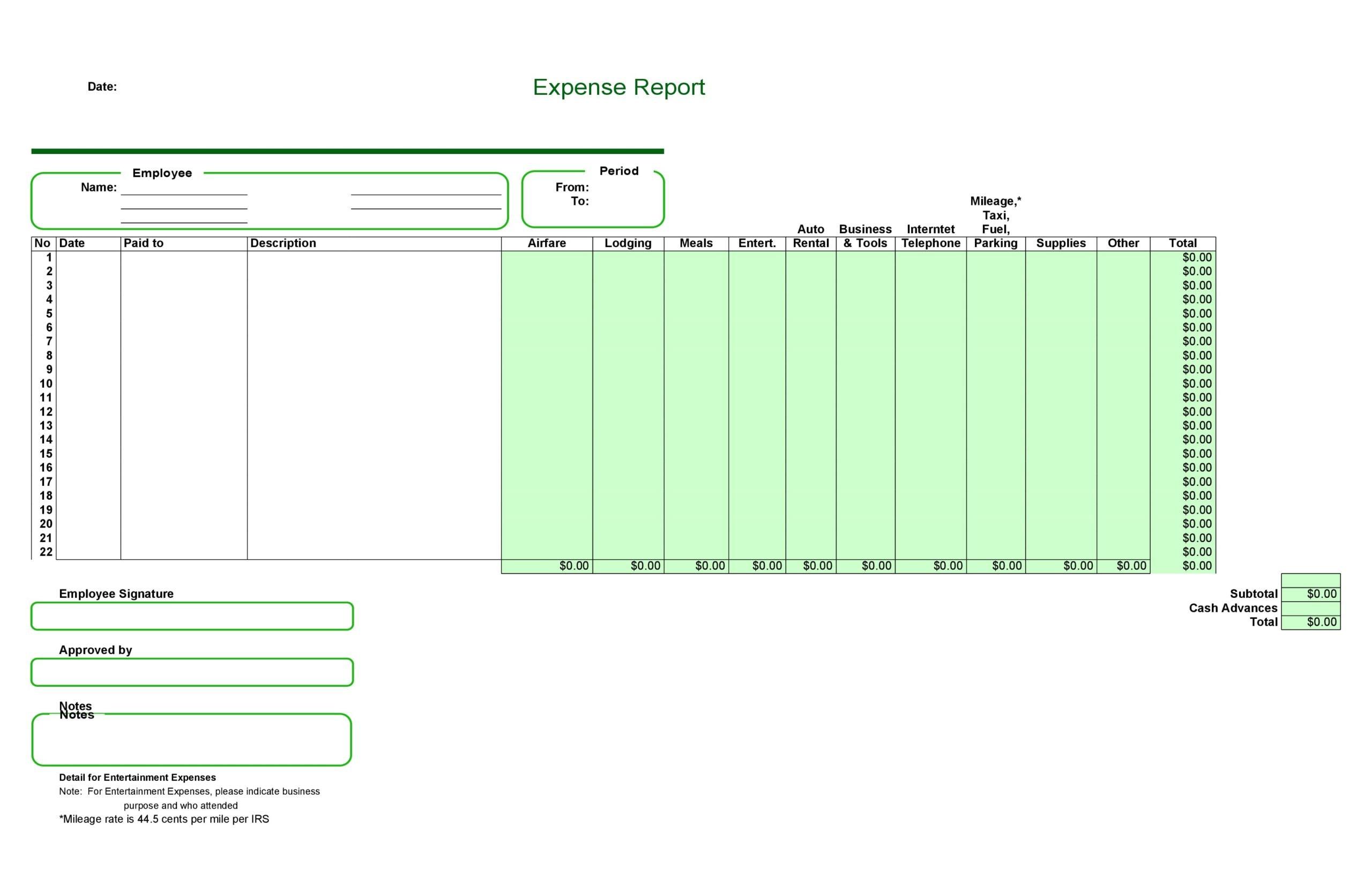 business expense spreadsheet 27