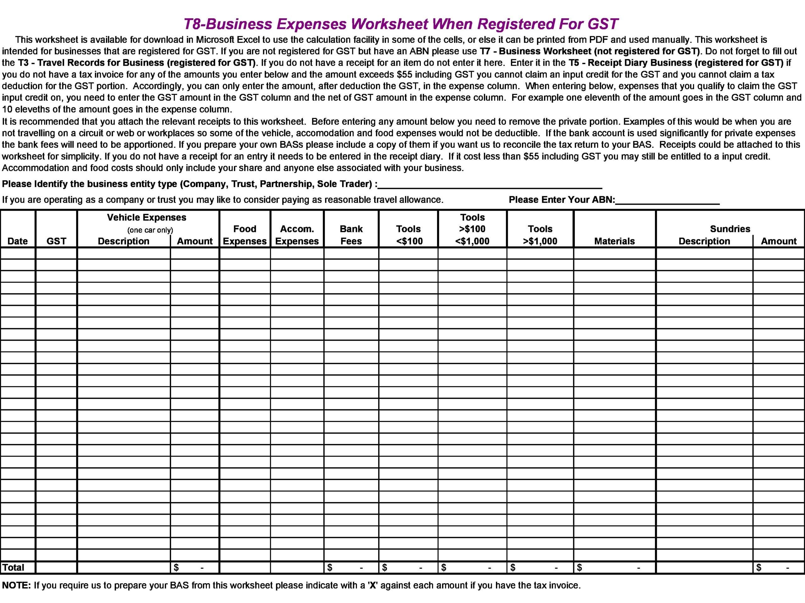 business expense spreadsheet 29