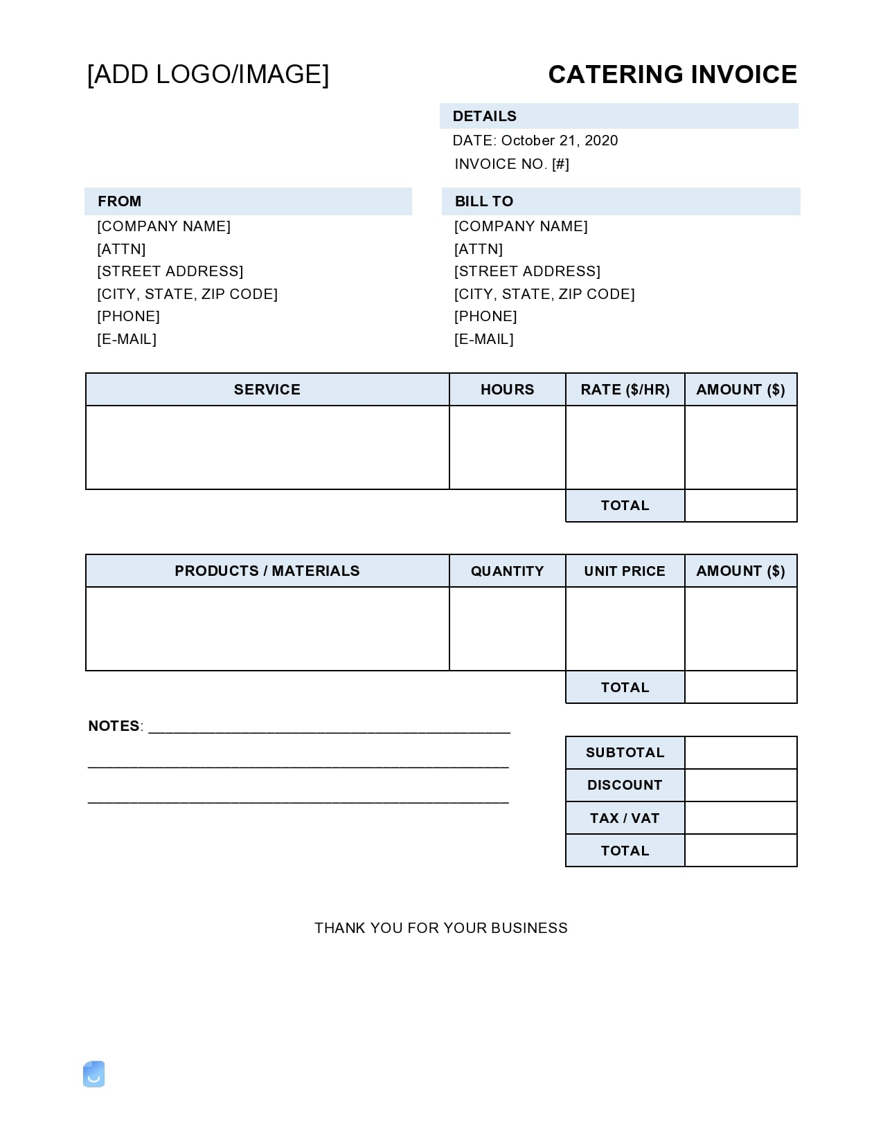 catering invoice 01