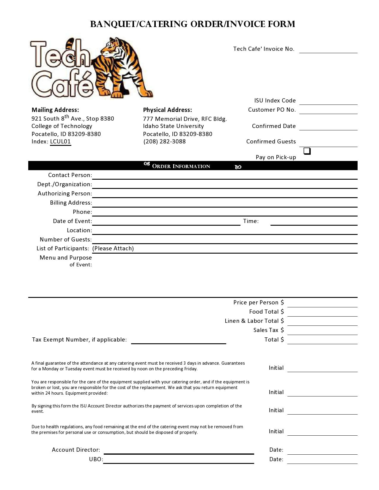 catering invoice 22