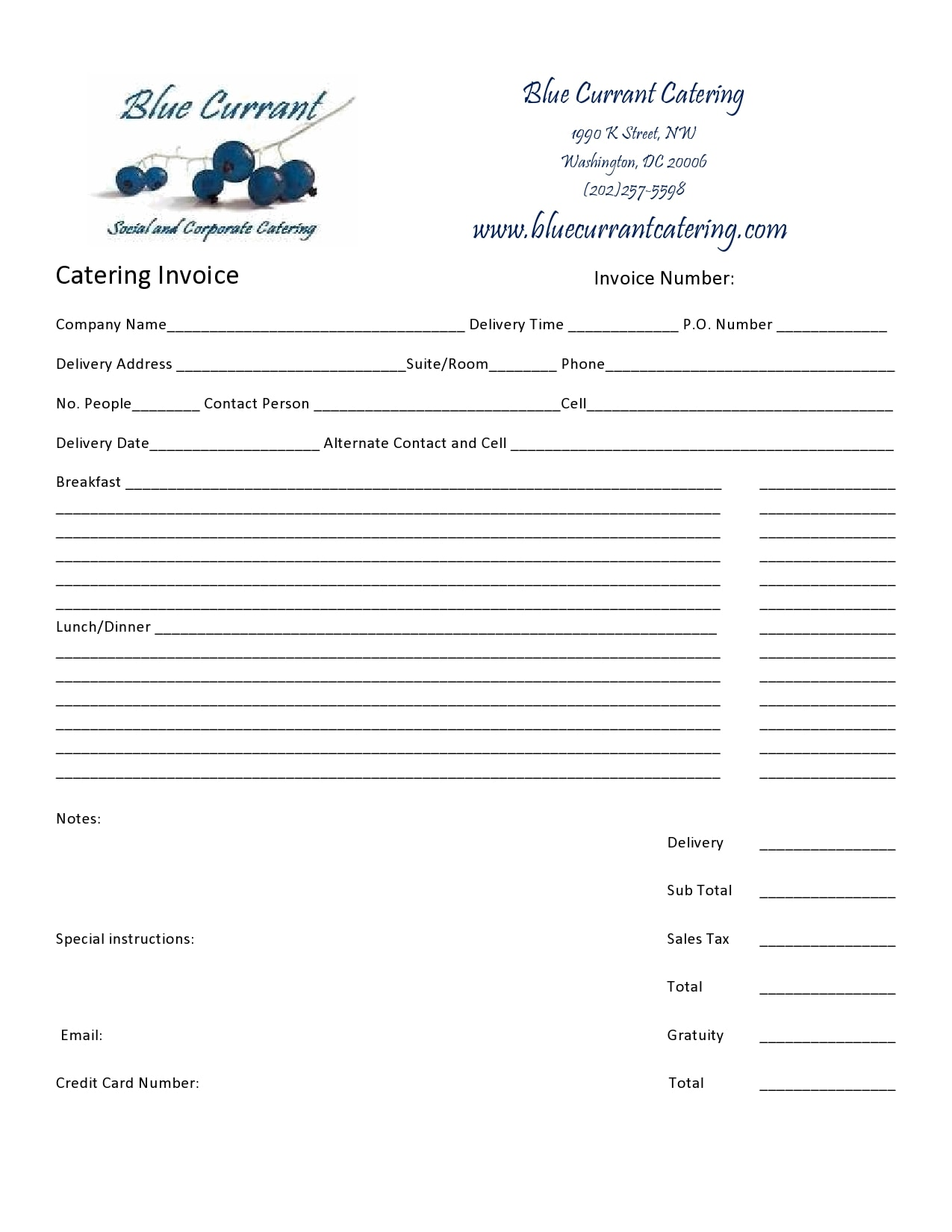 catering invoice 26