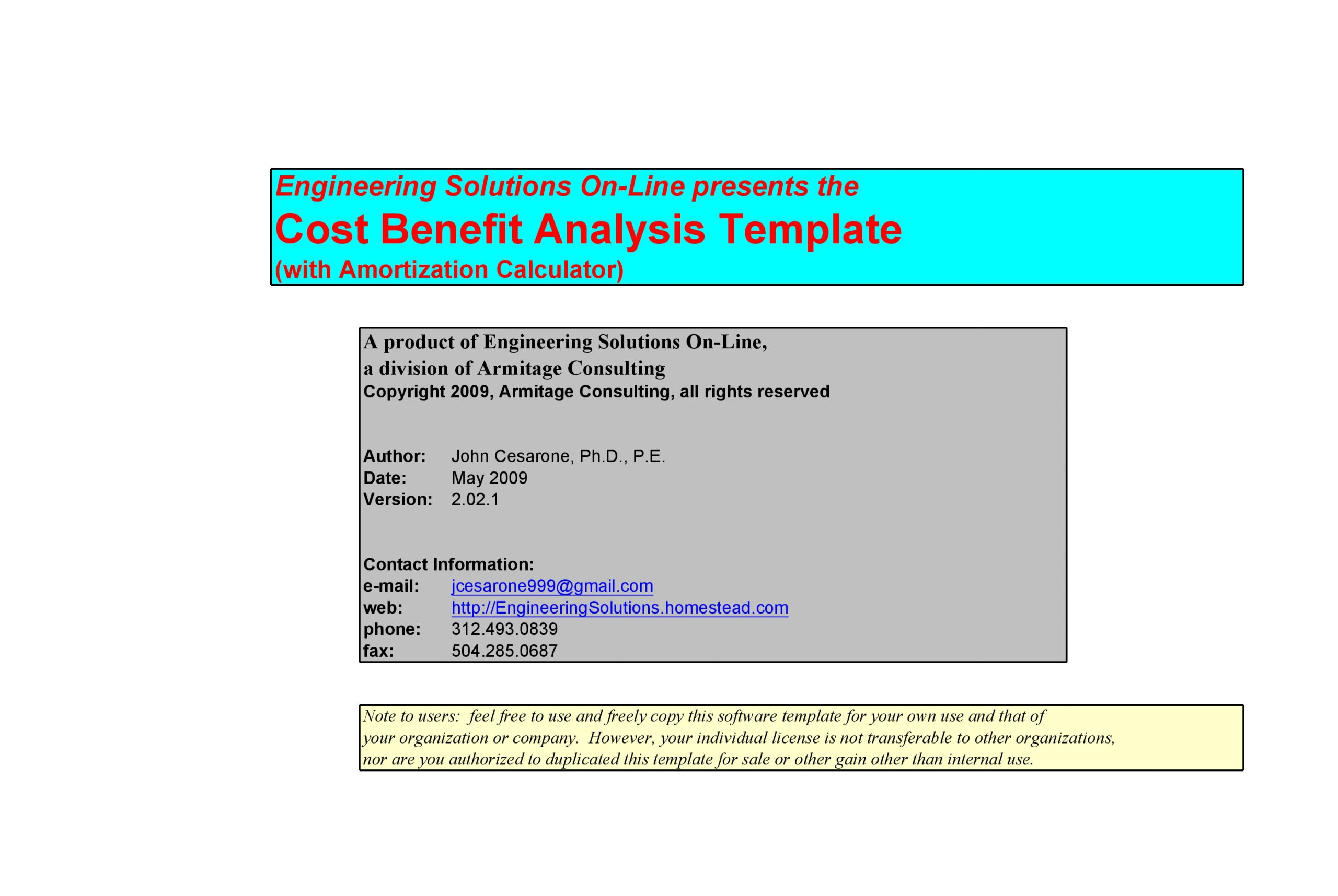 cost benefit analysis template 01