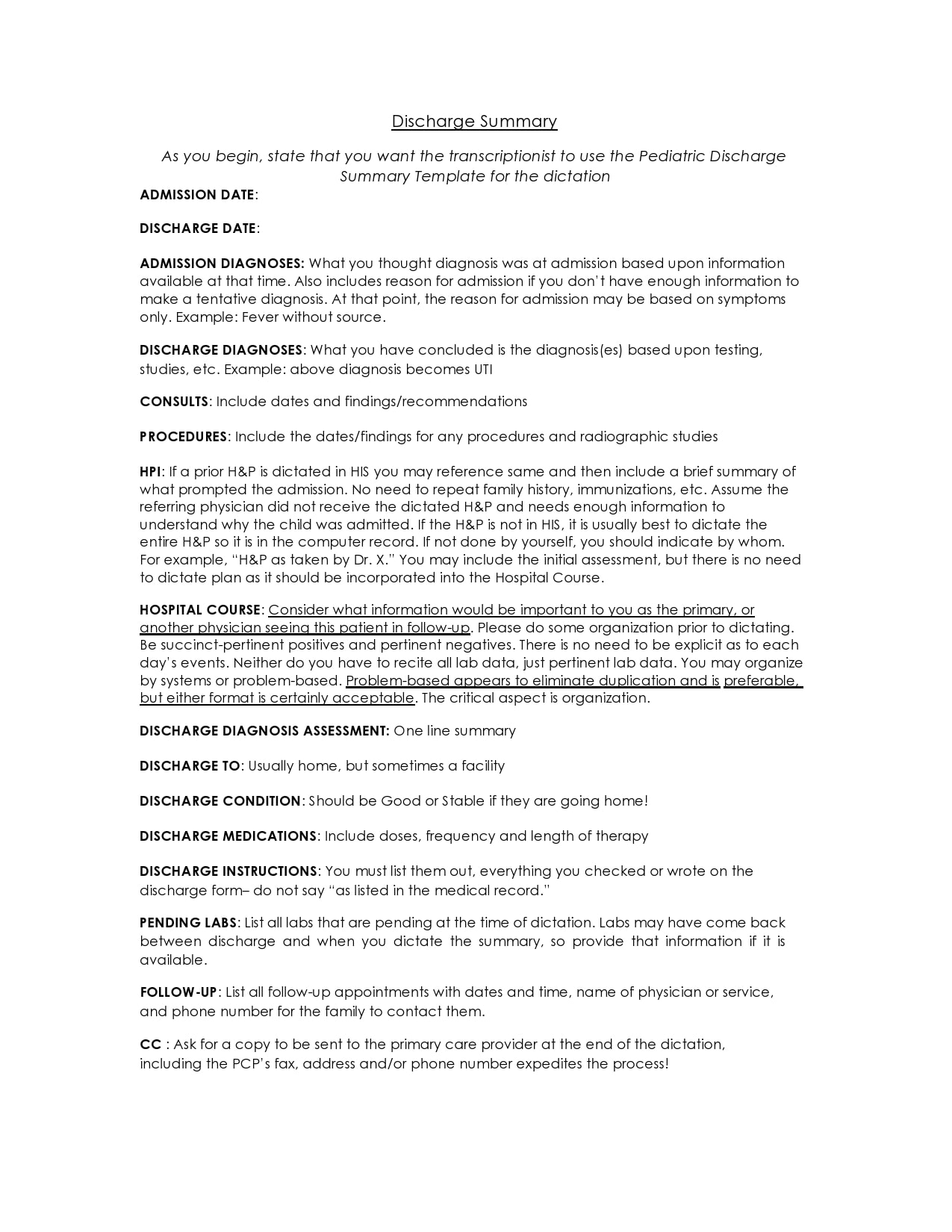 discharge summary template 11