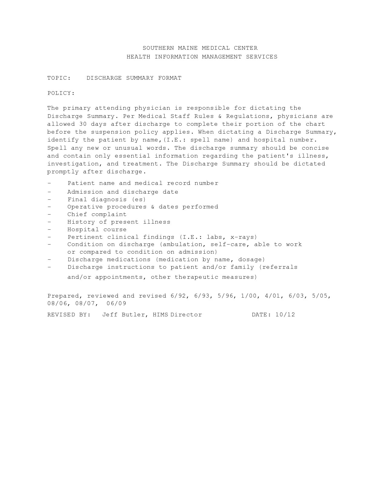 discharge summary template 14