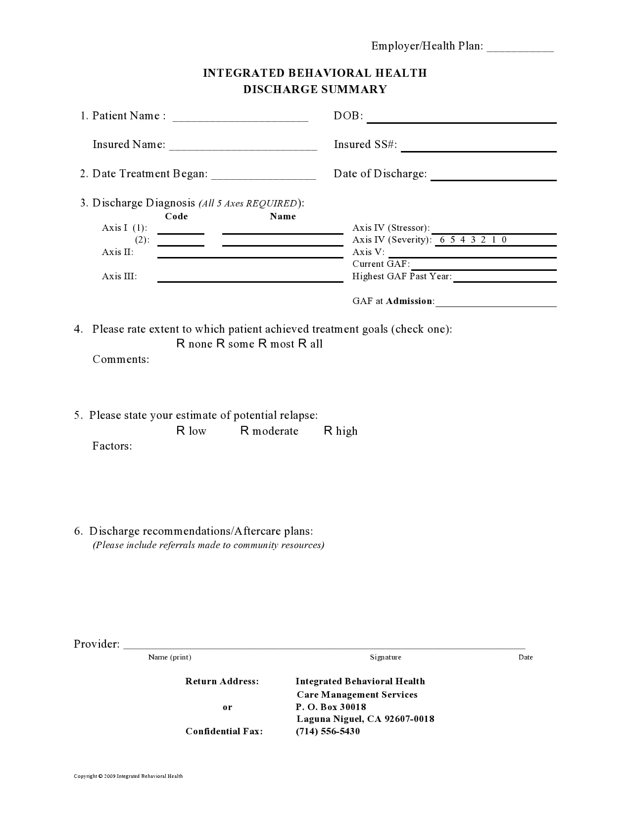 discharge summary template 19