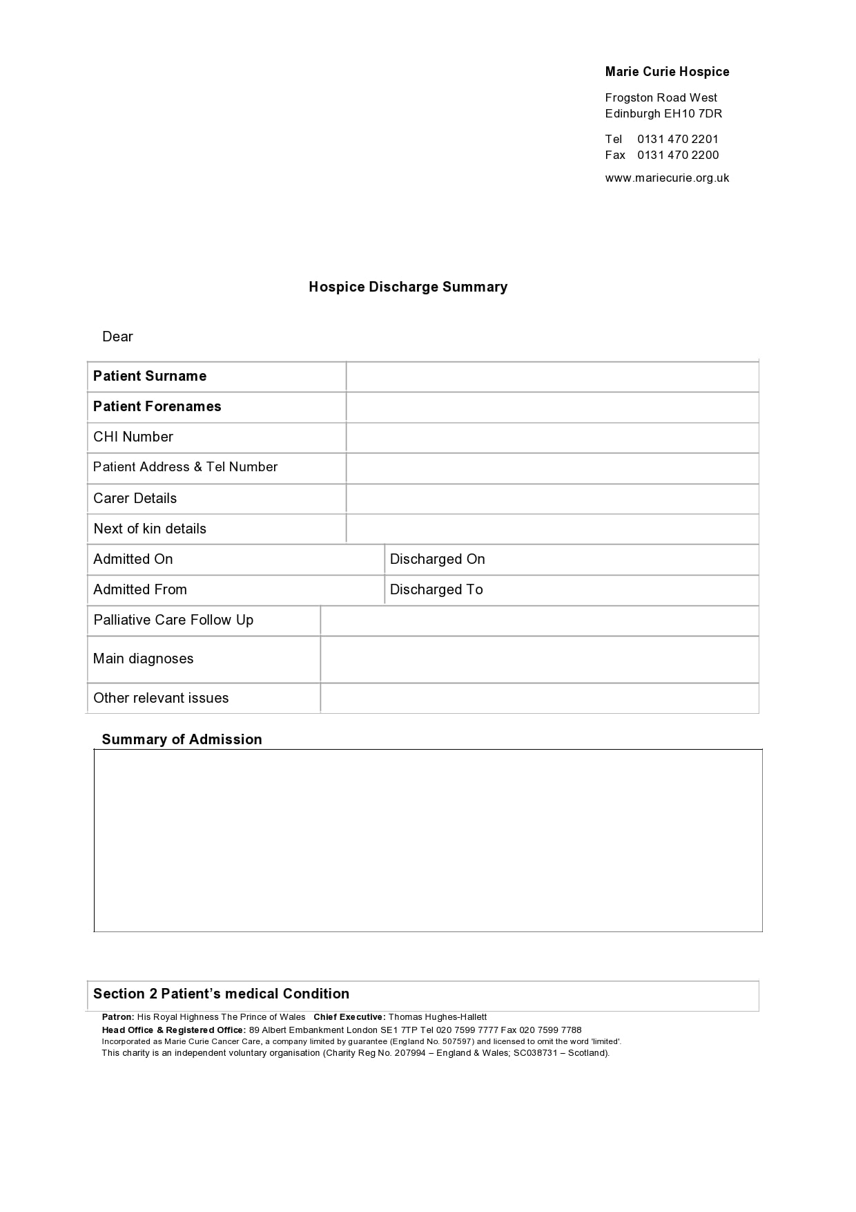 discharge summary template 20