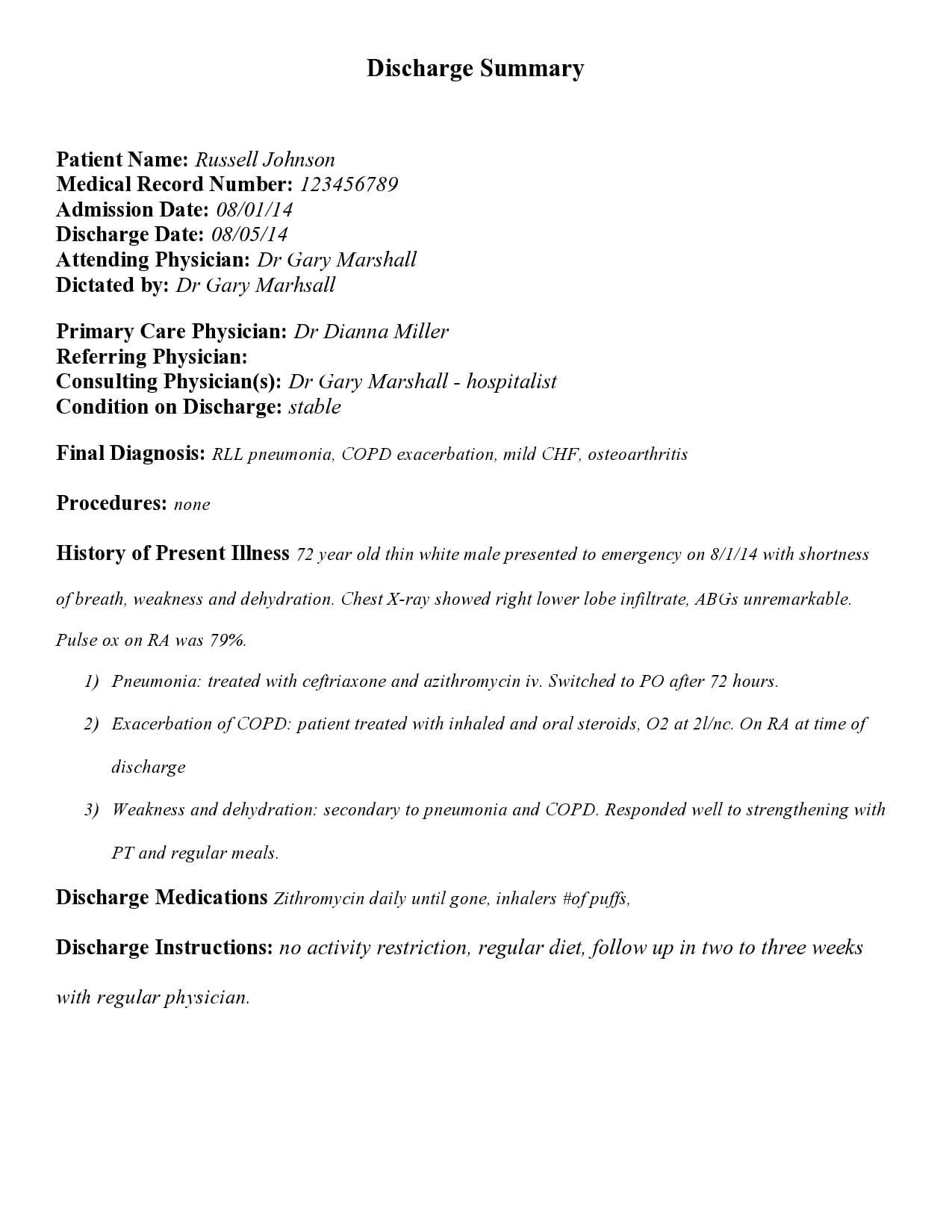 discharge summary template 23