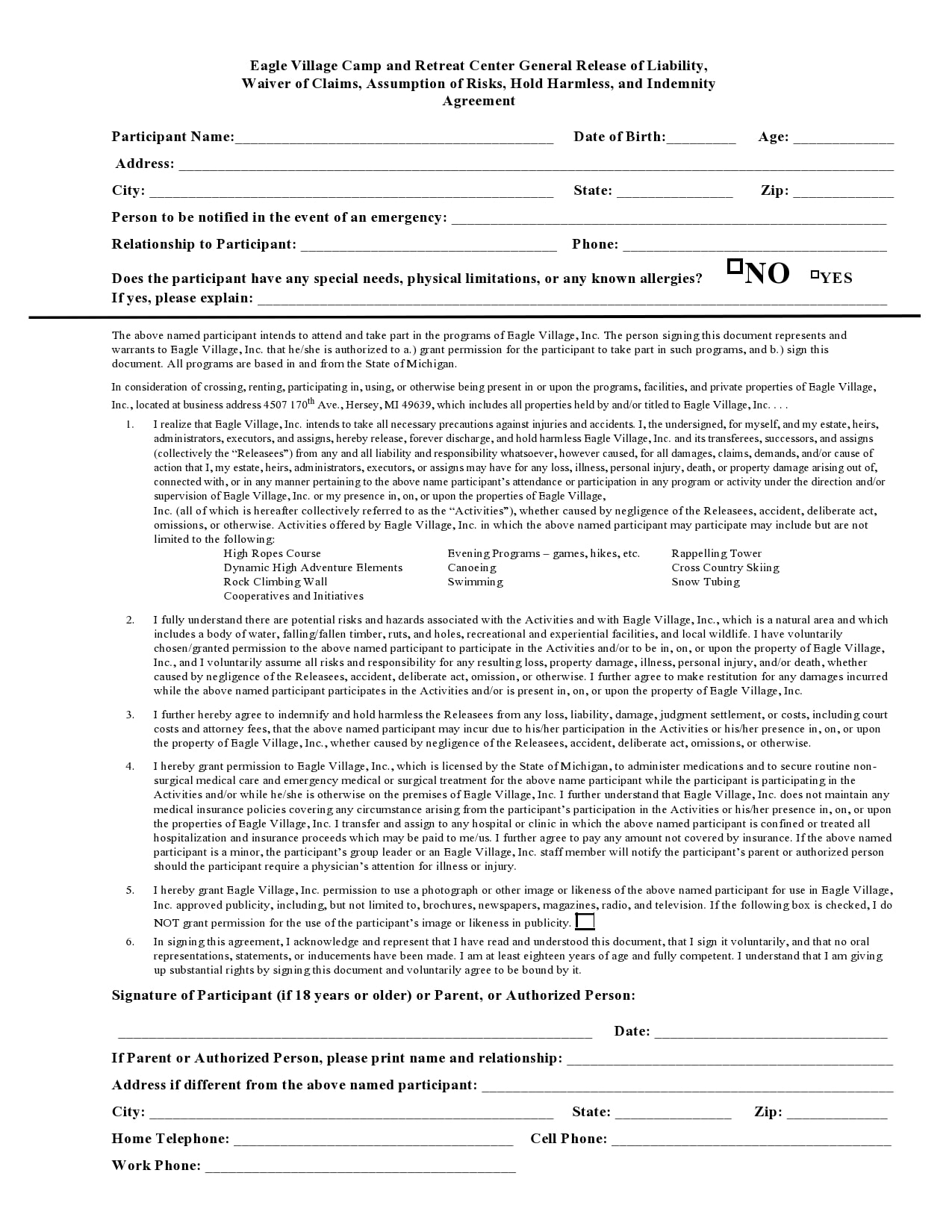 general release of liability form 21
