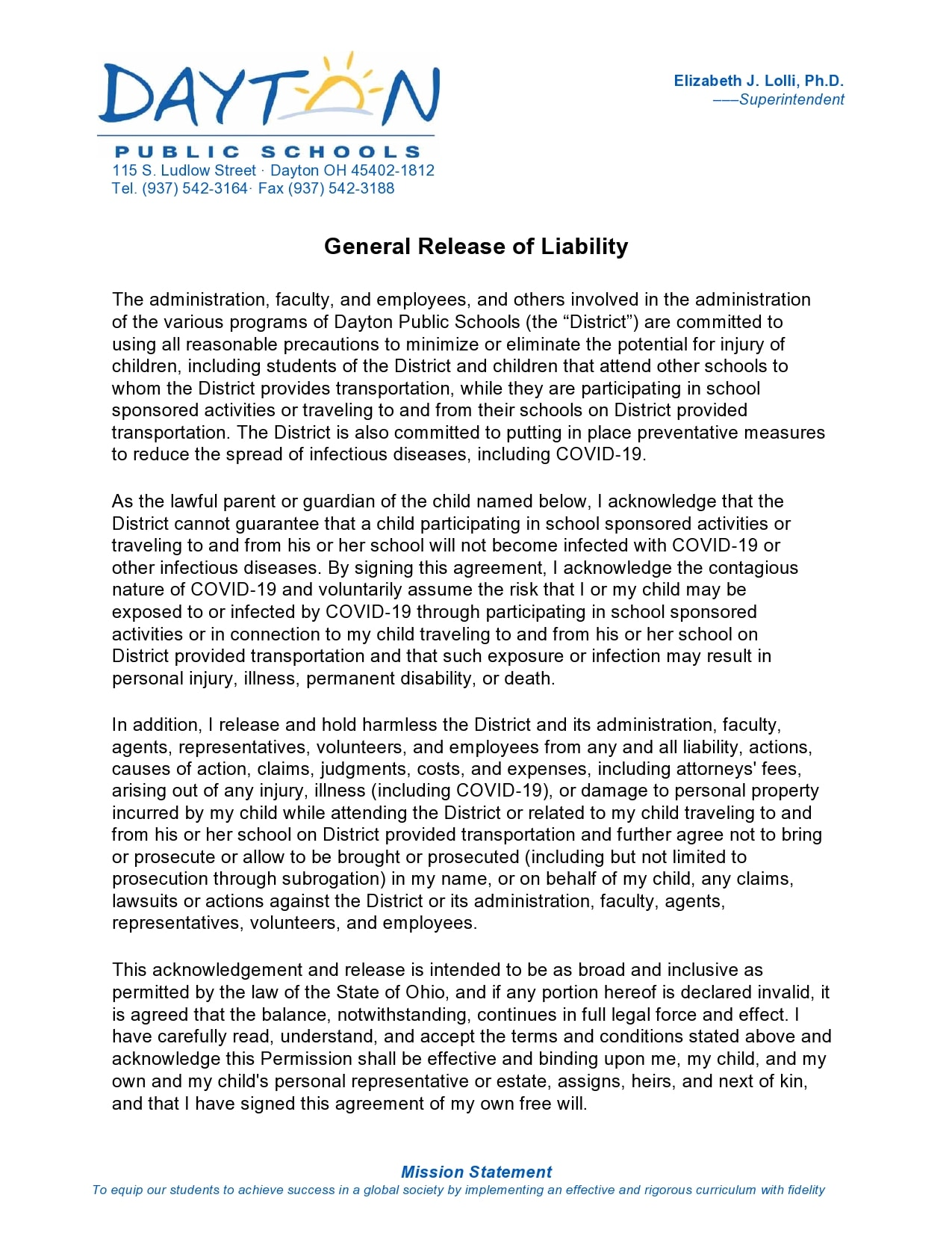 general release of liability form 25