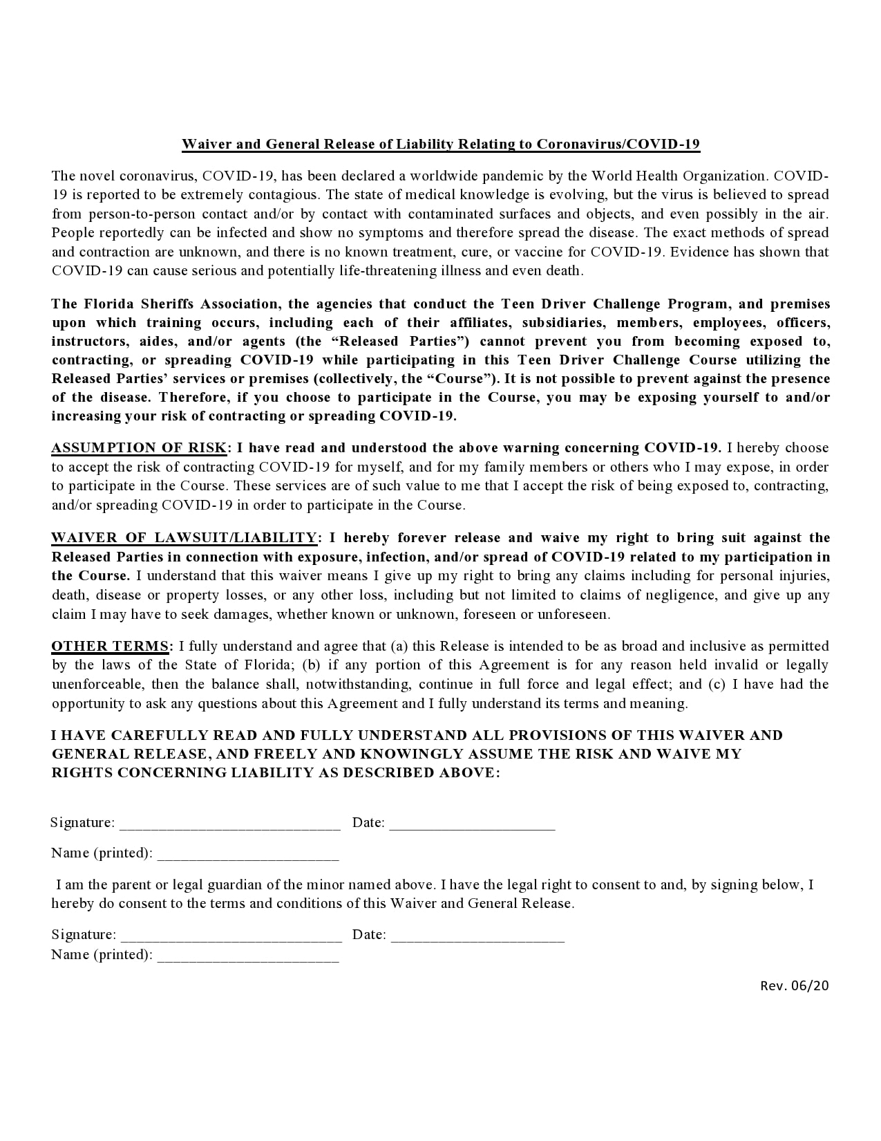 general release of liability form 30
