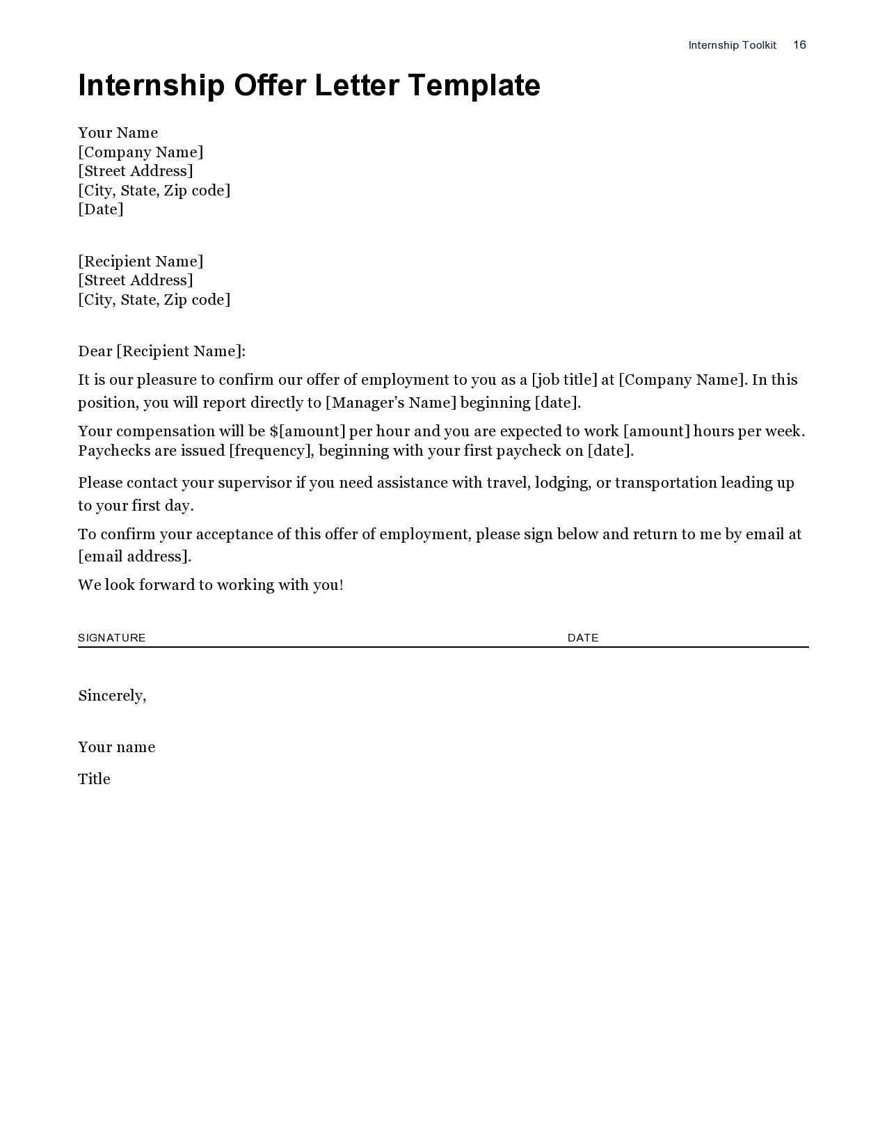 internship offer letter 10