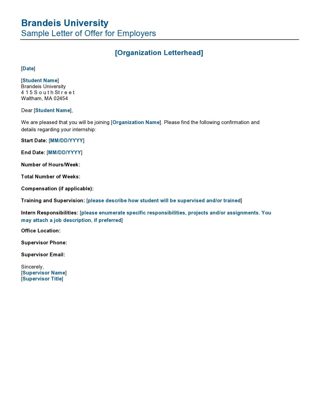 internship offer letter 11