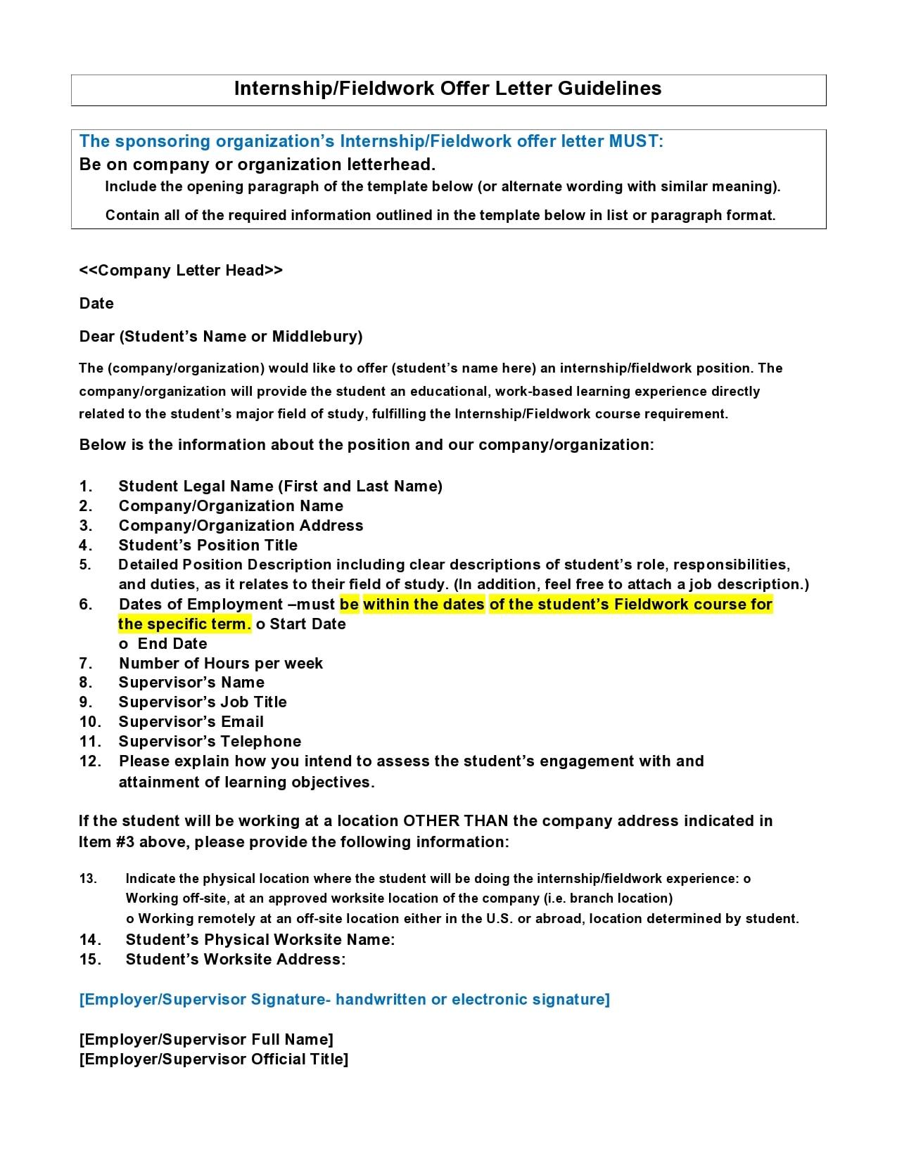 internship offer letter 12