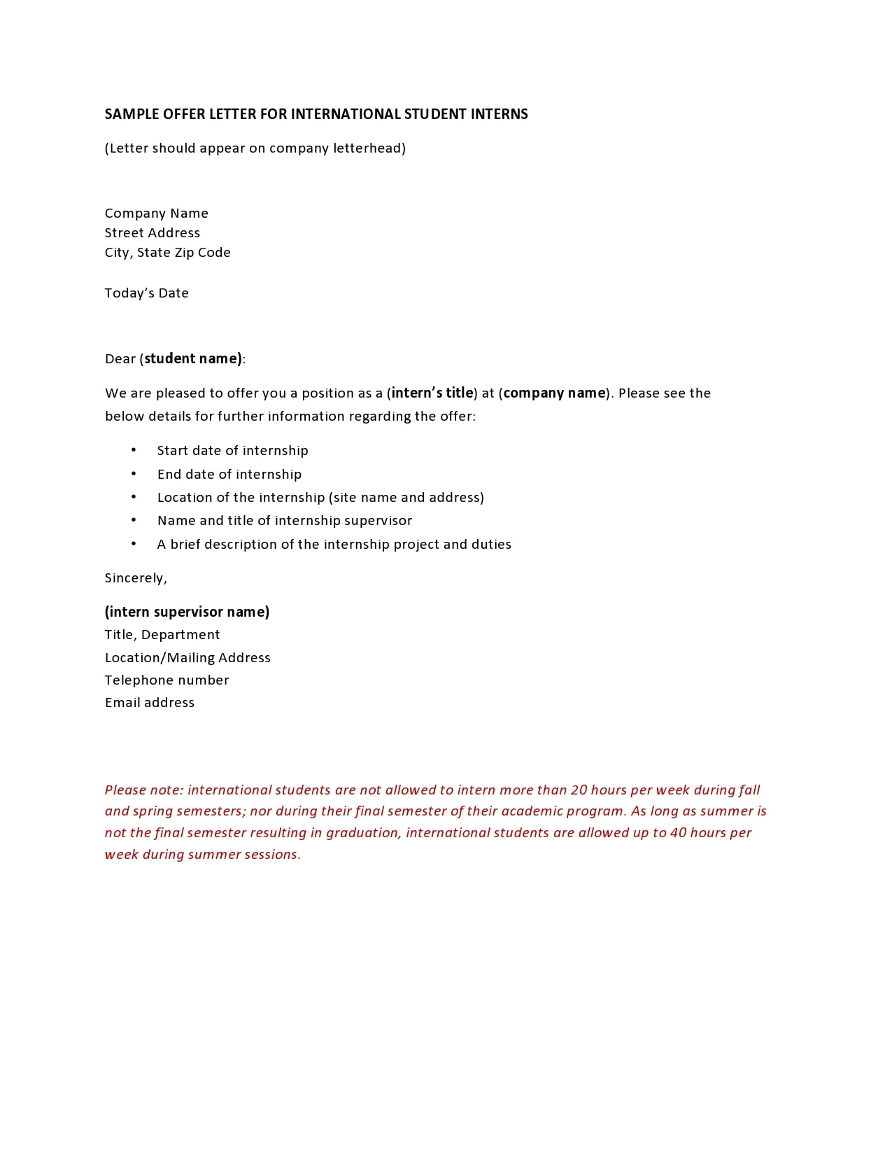 internship offer letter 14