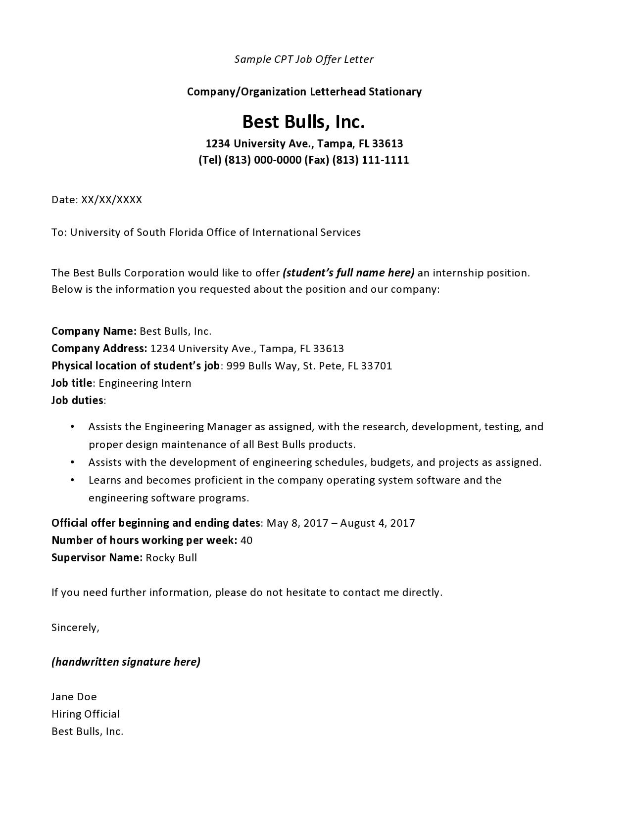 internship offer letter 15
