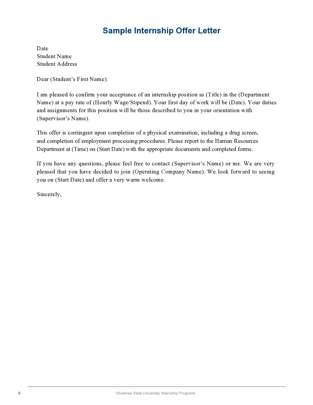 internship offer letter 18