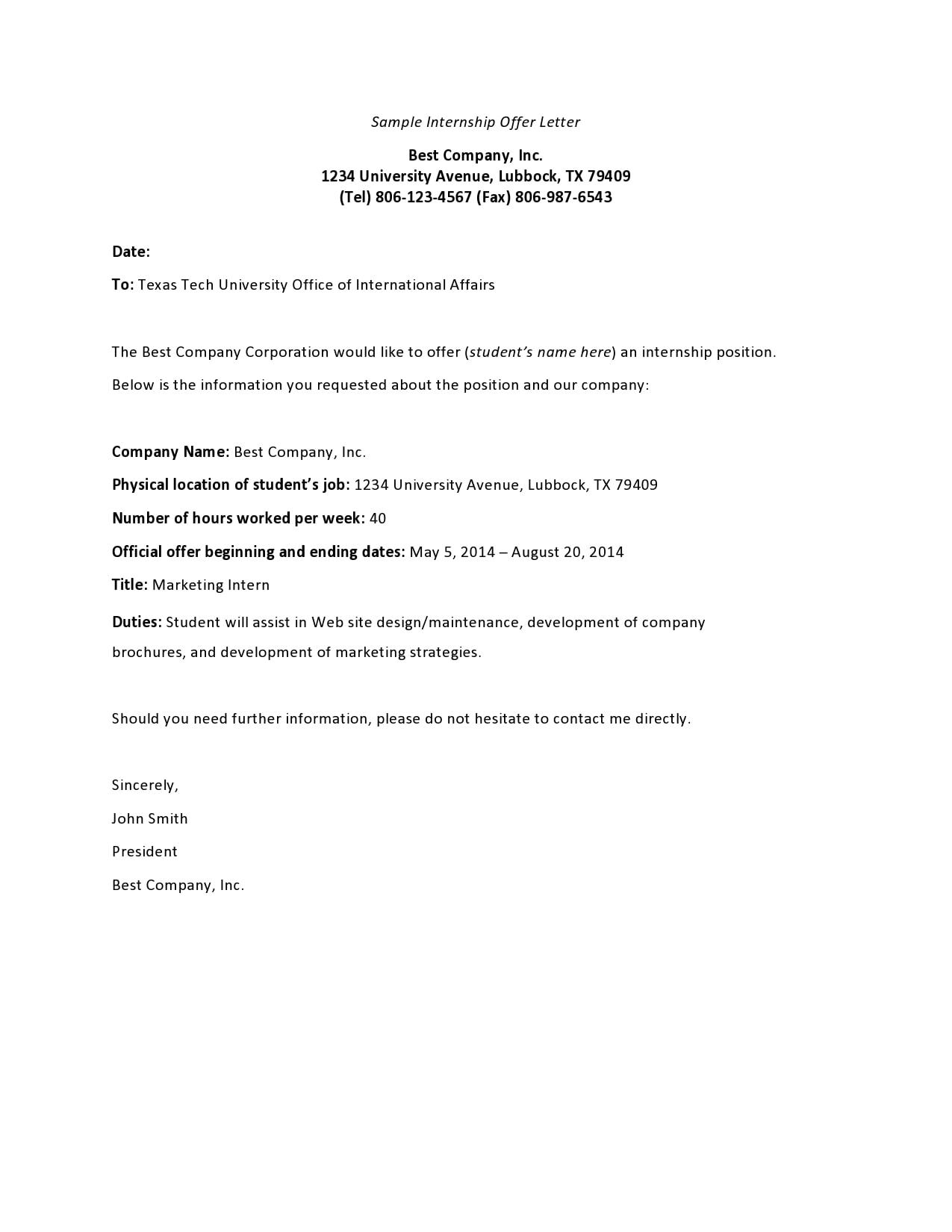 internship offer letter 21