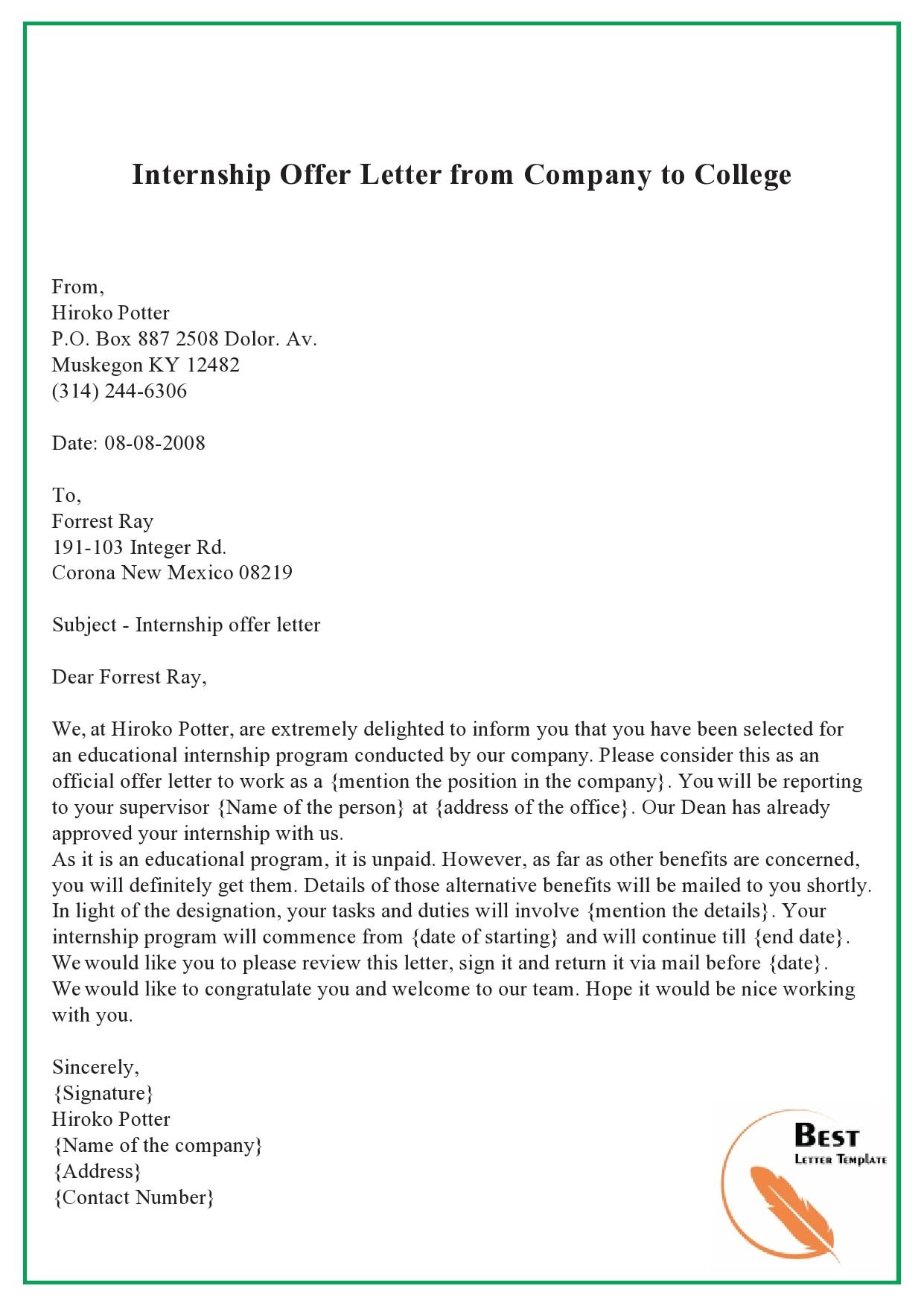 internship offer letter 23