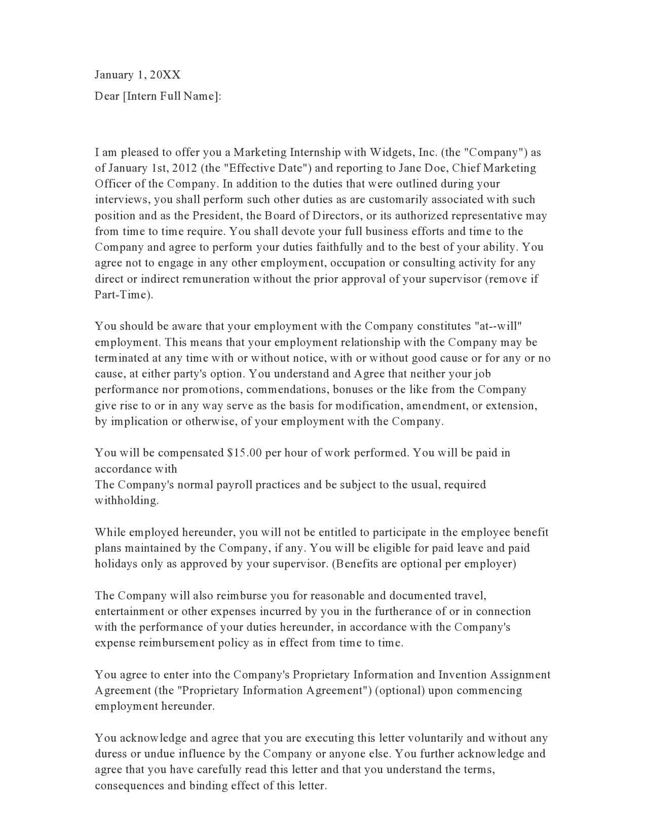 internship offer letter 25
