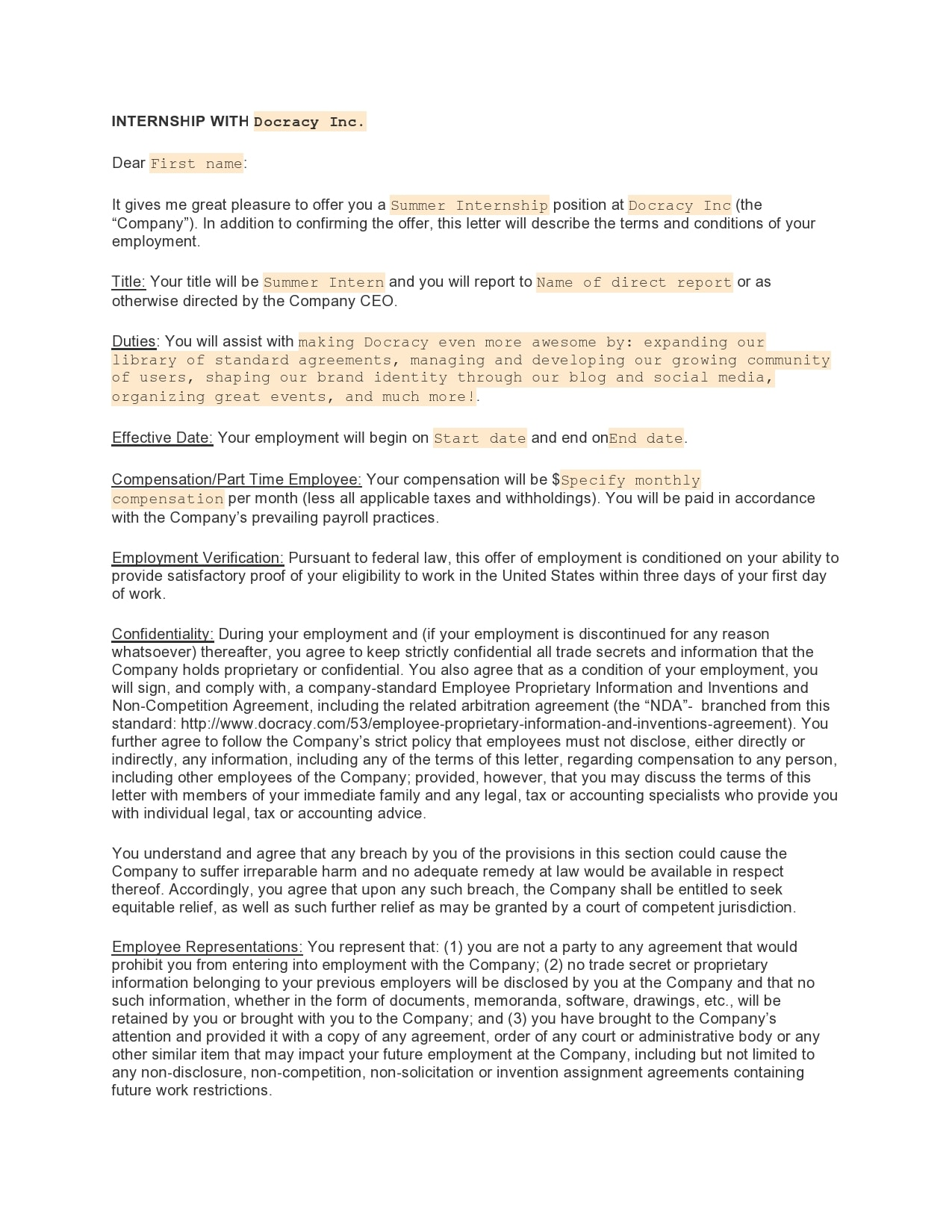 internship offer letter 28