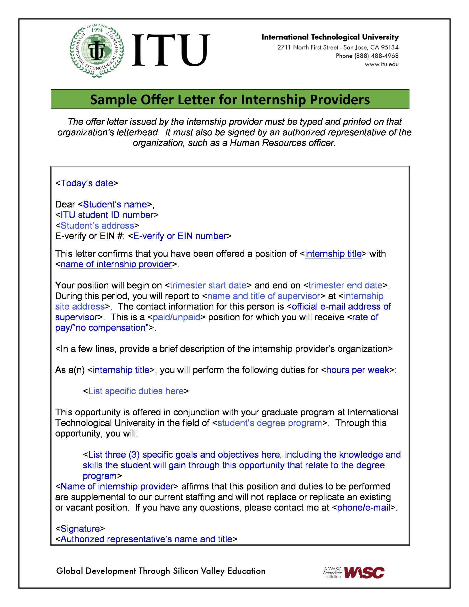 internship offer letter 29