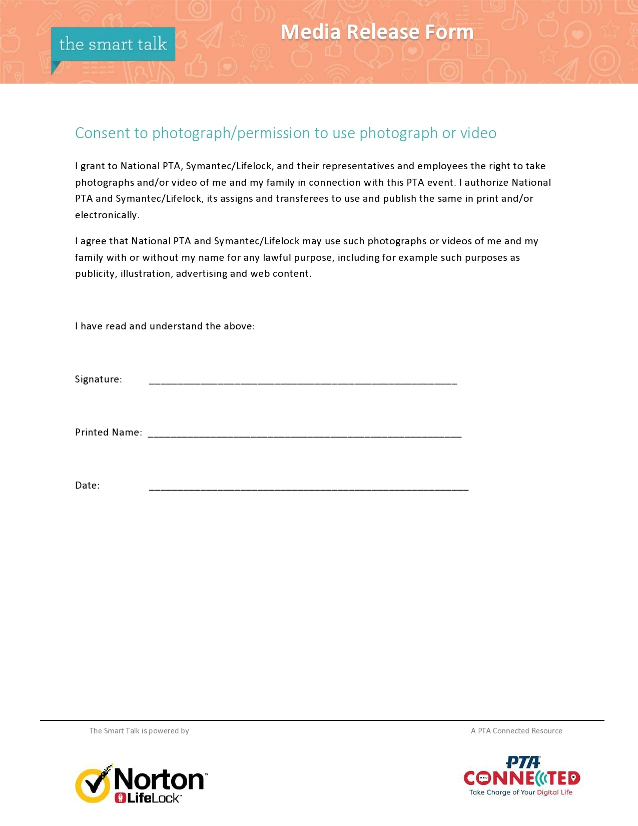 30 Standard Media Release Forms [Photo, Social, Website..]