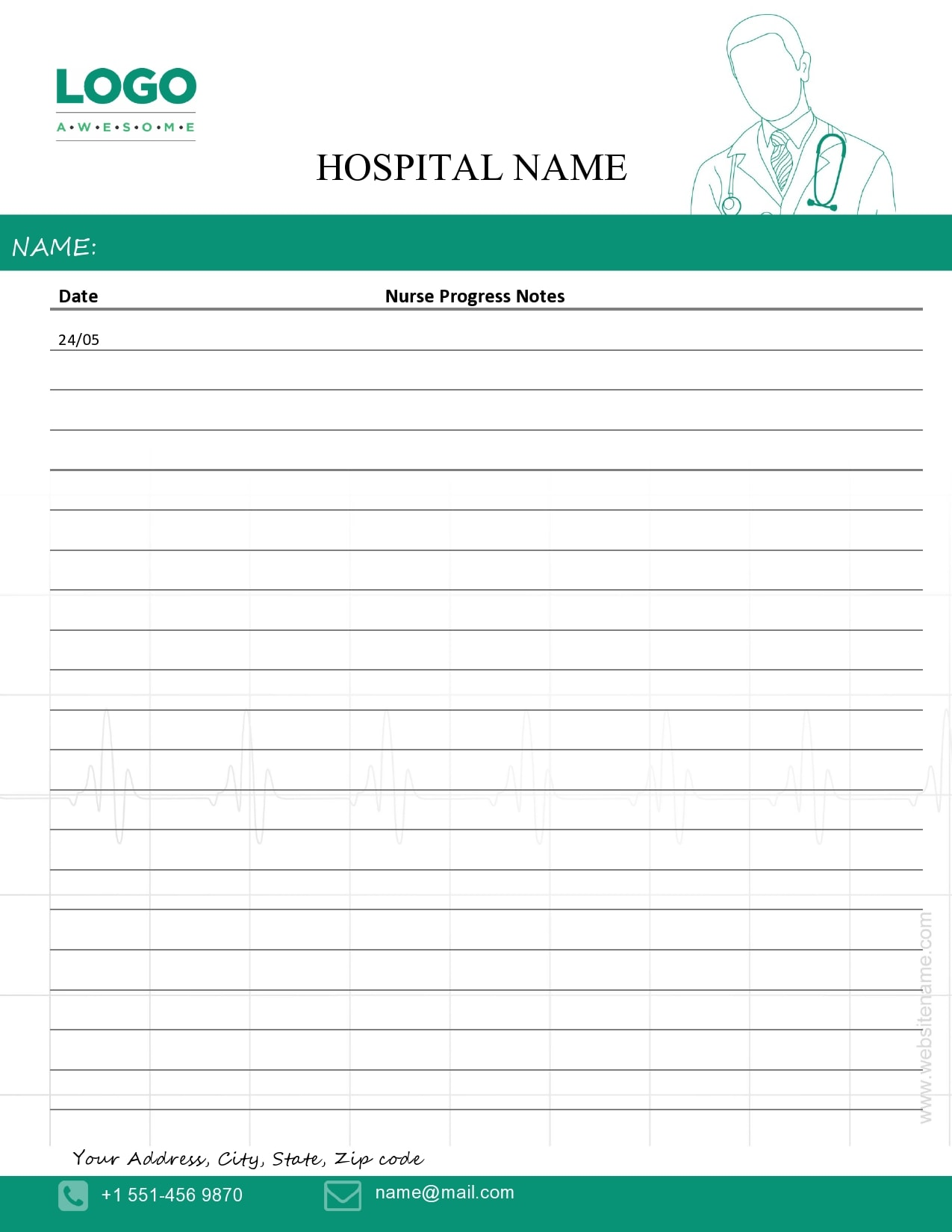 nursing note sample 06