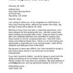 nursing resignation letter 21