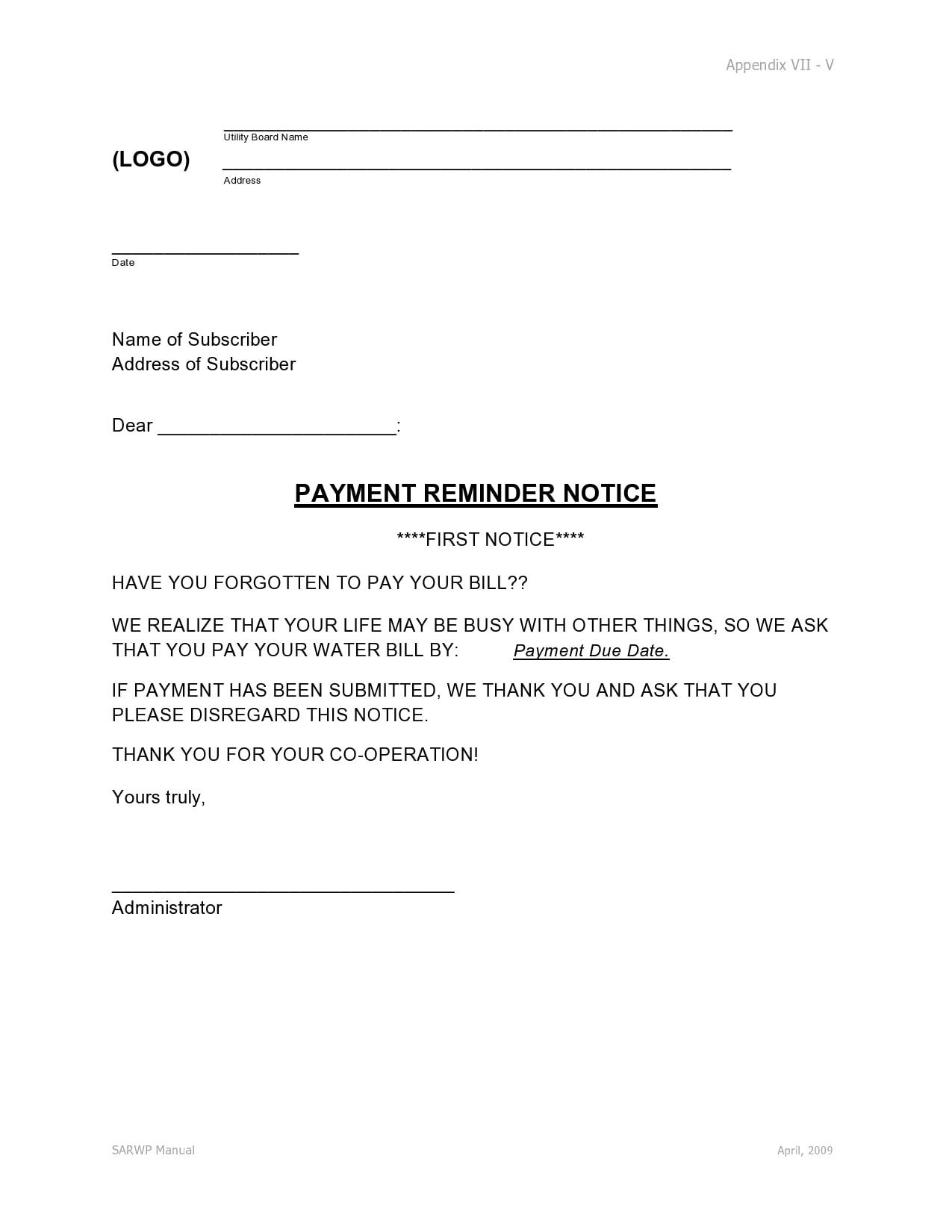 payment reminder 11