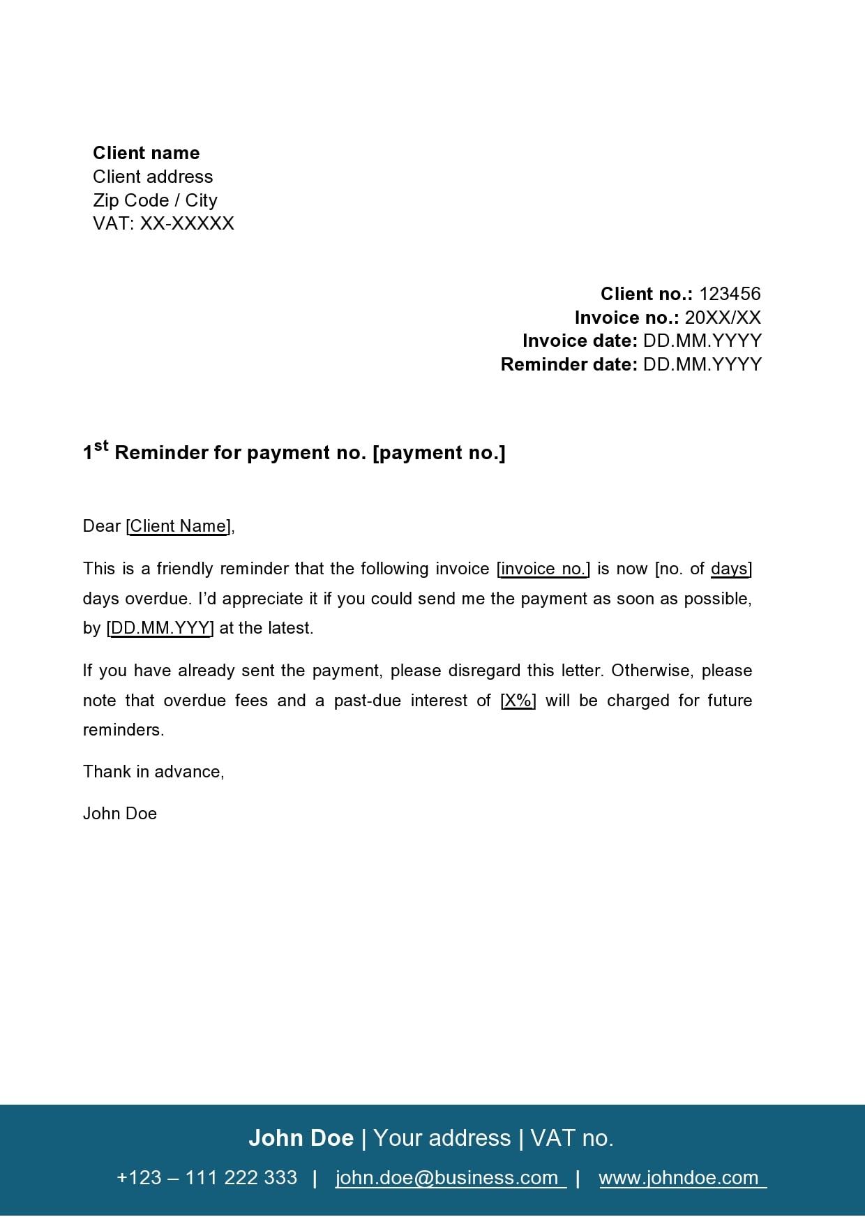 payment reminder 30