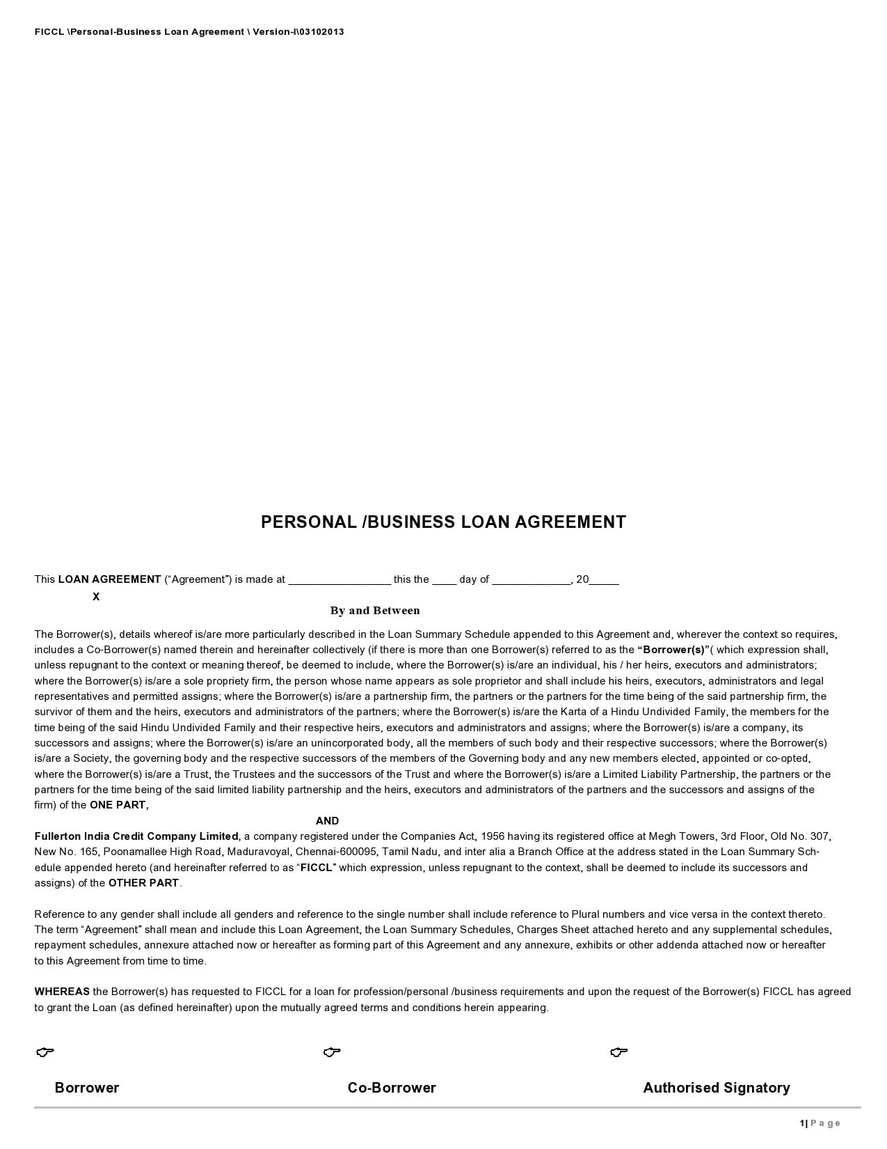 personal loan template 10