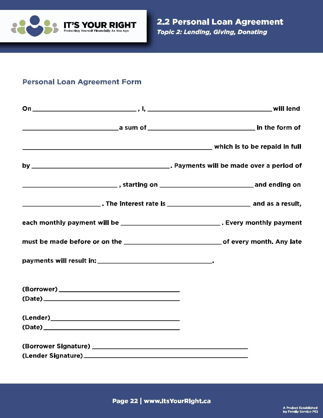 personal loan template 11