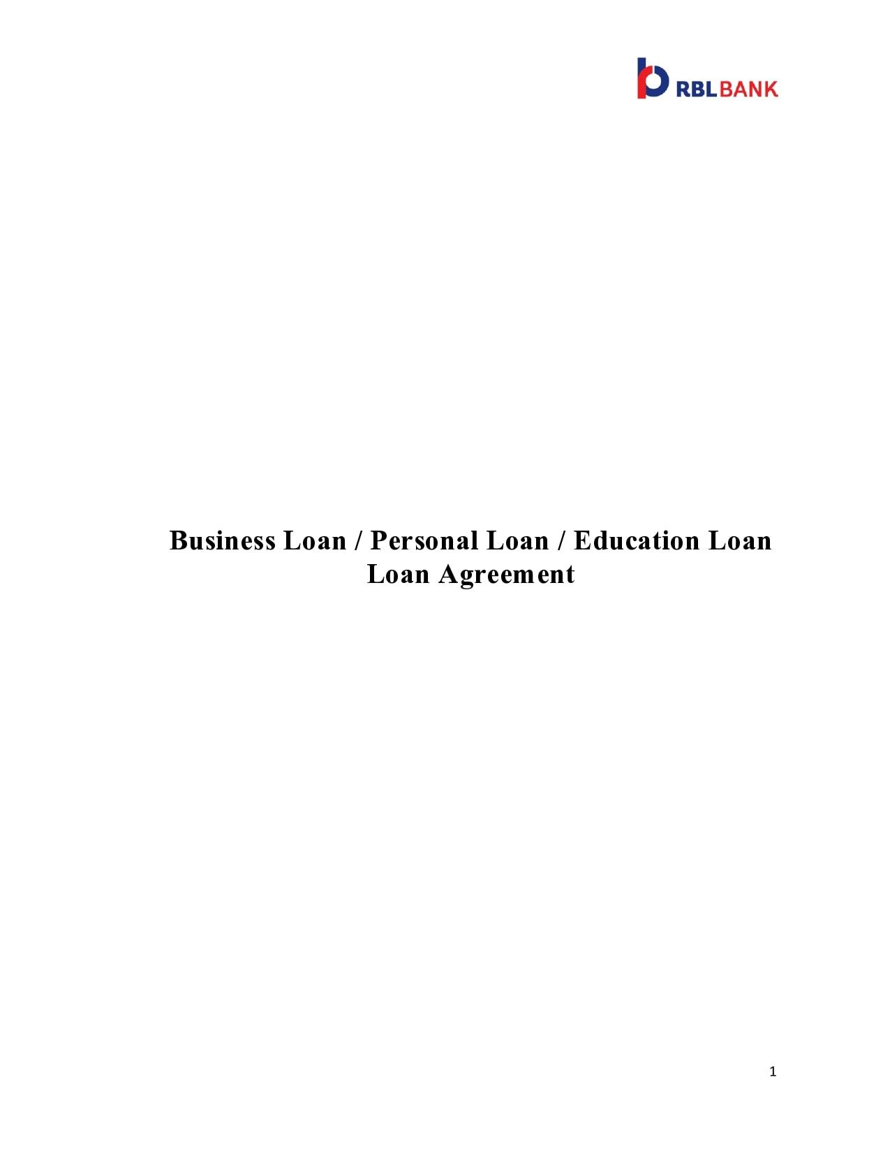personal loan template 14