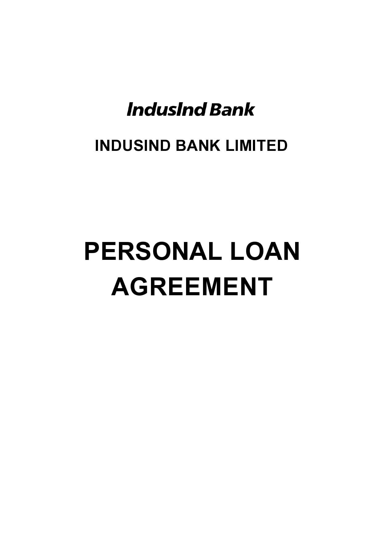 personal loan template 16