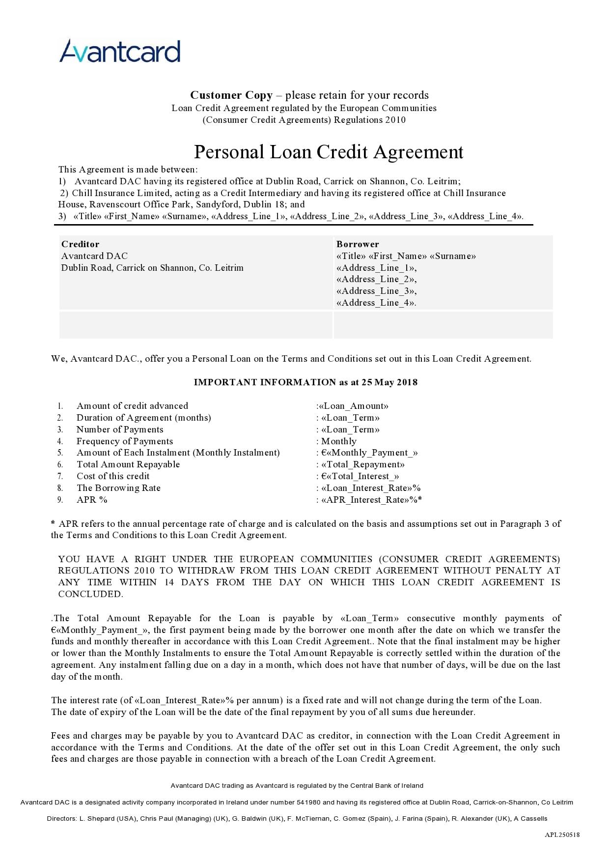 personal loan template 19