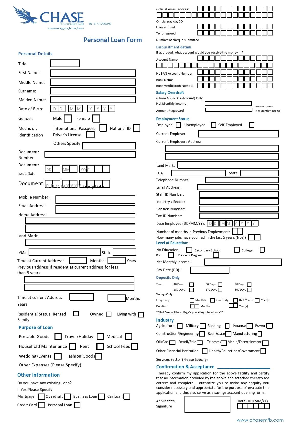 personal loan template 20