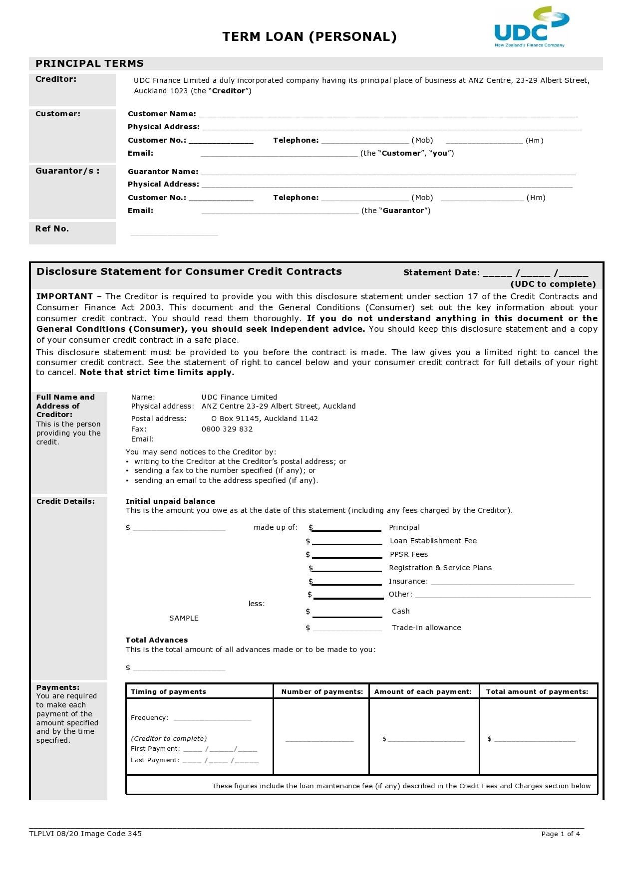 personal loan template 23