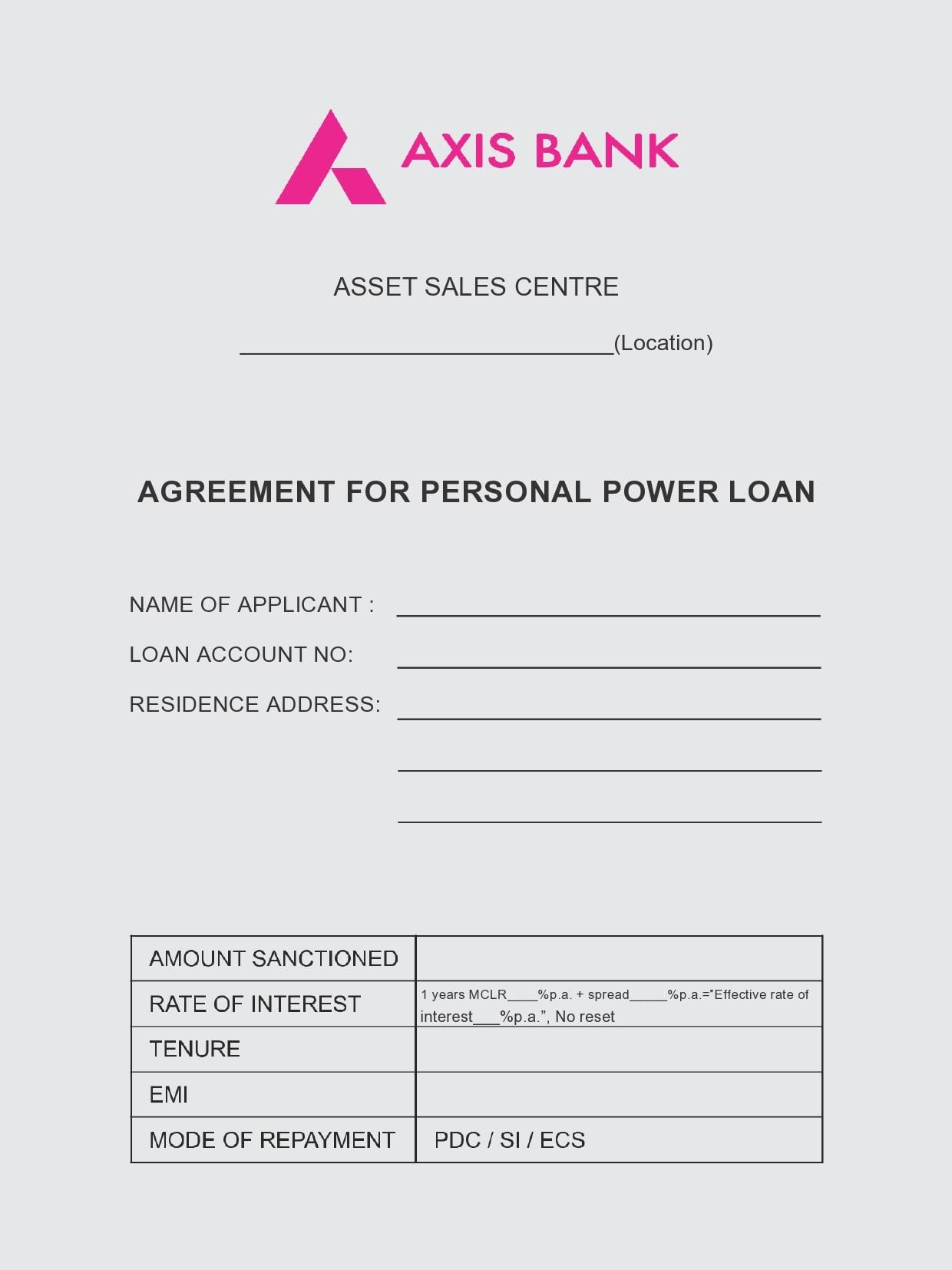 personal loan template 24