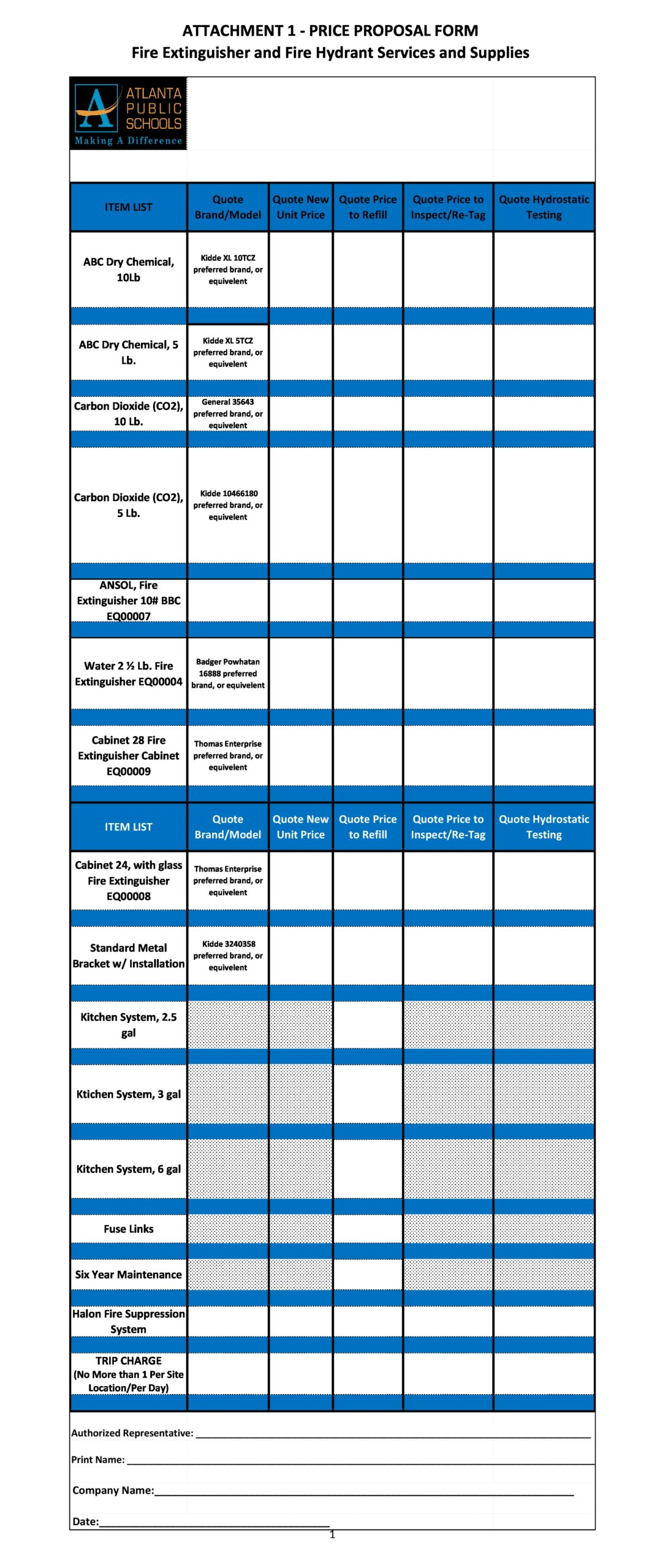 price sheet template 06