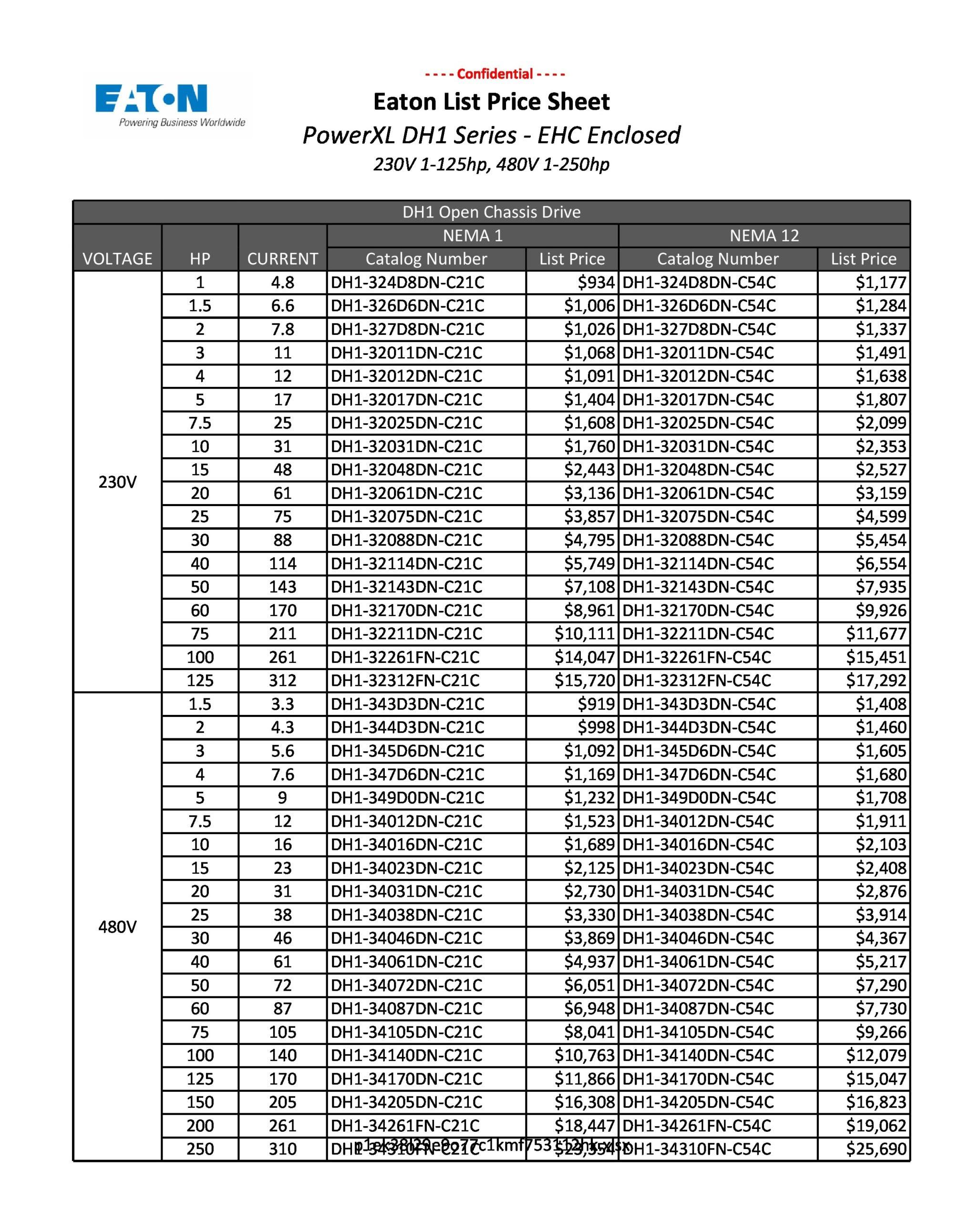 price sheet template 17
