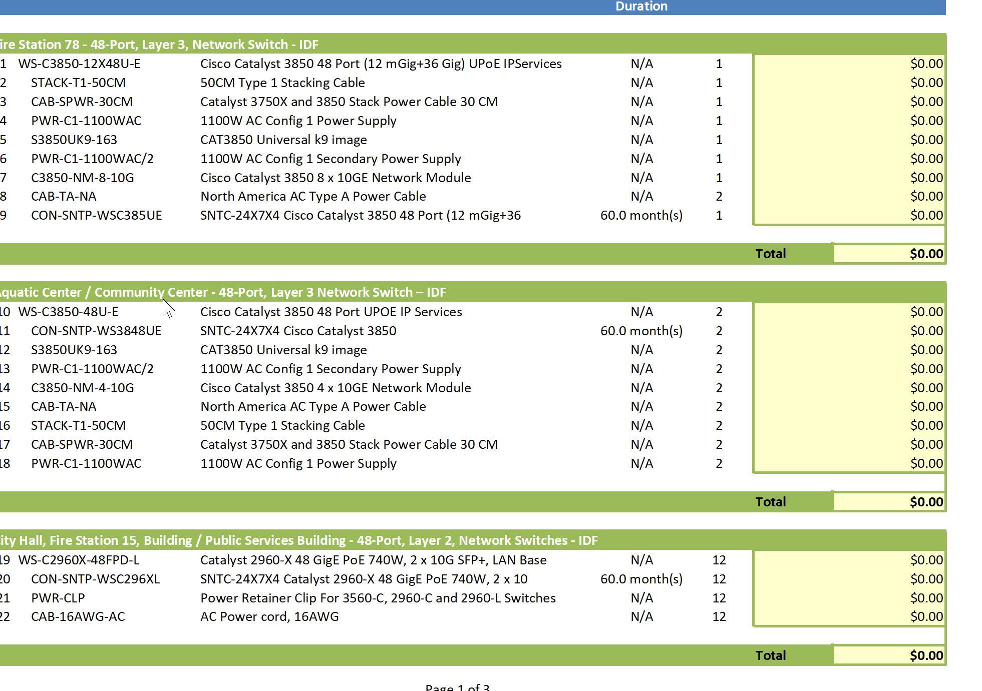 price sheet template 22